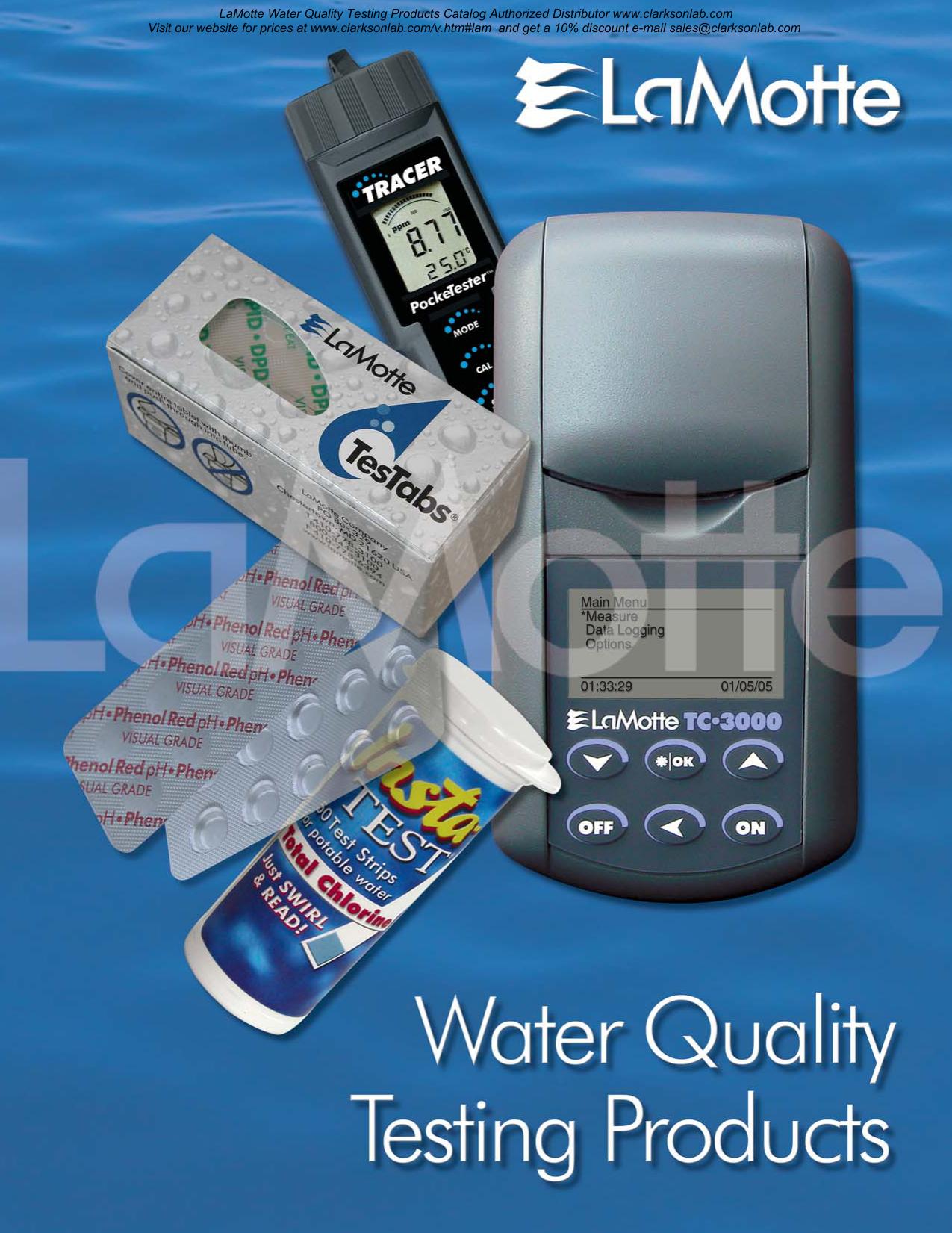 LaMotte 3641-01-SC Lamotte Chemical Company Aluminum Smart Reagent System .