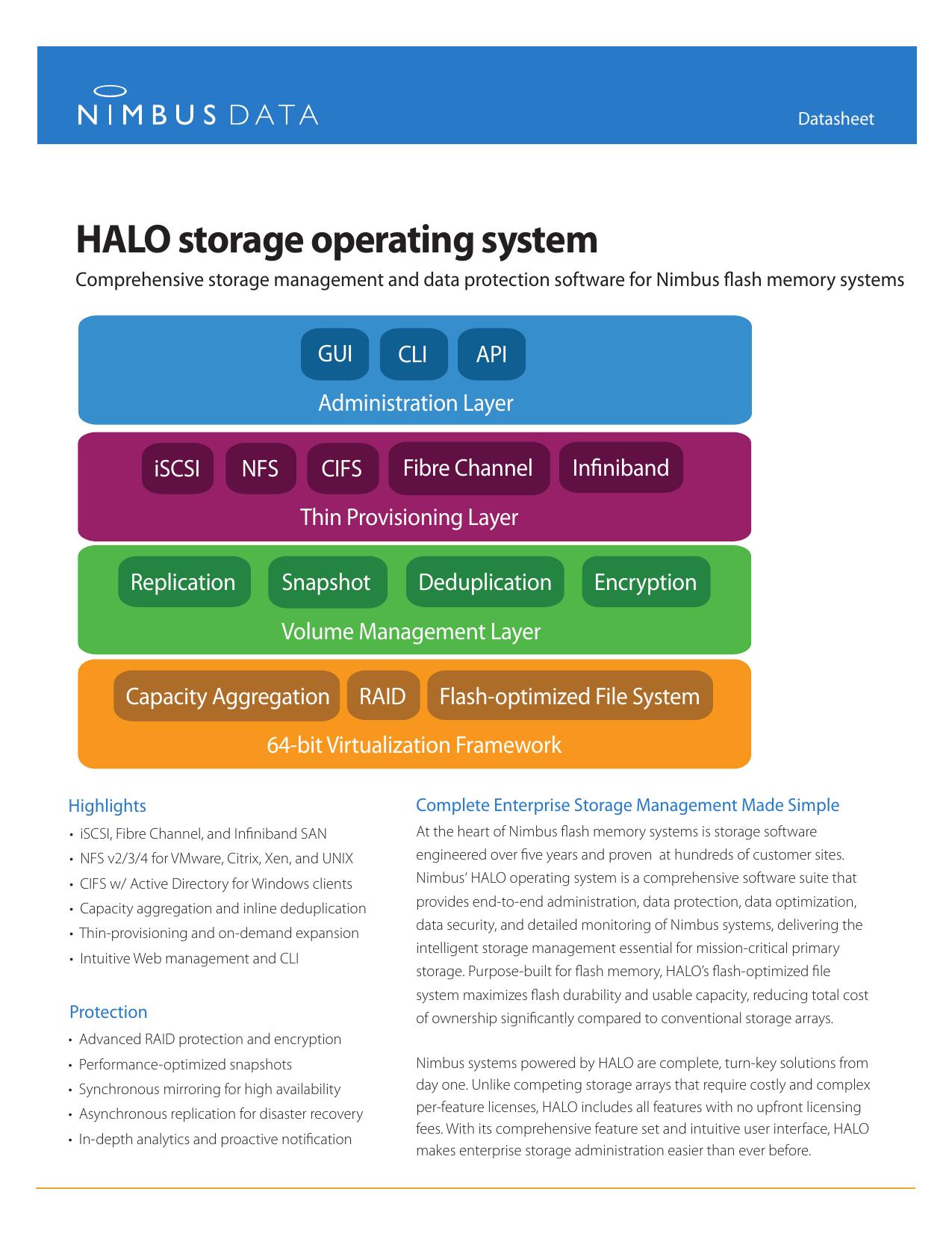 magasin en ligne c7e90 731b7 Nimbus Data HALO Operating System Data Sheet   manualzz.com
