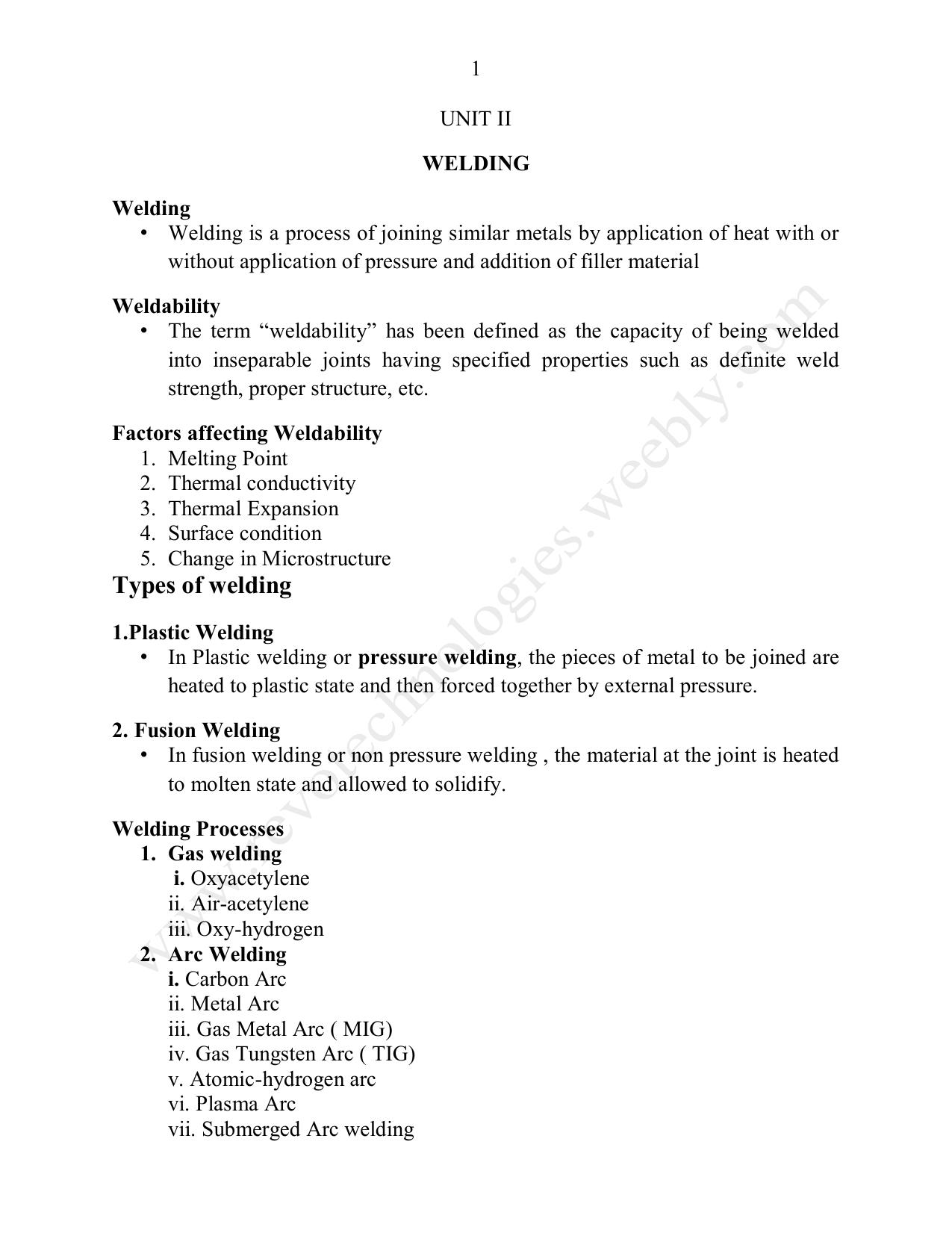 Types of welding - Revo Technologies and Enterprises