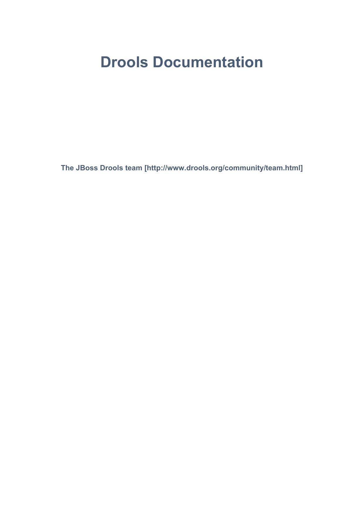 Drools Documentation - JBoss org Documentation | manualzz com