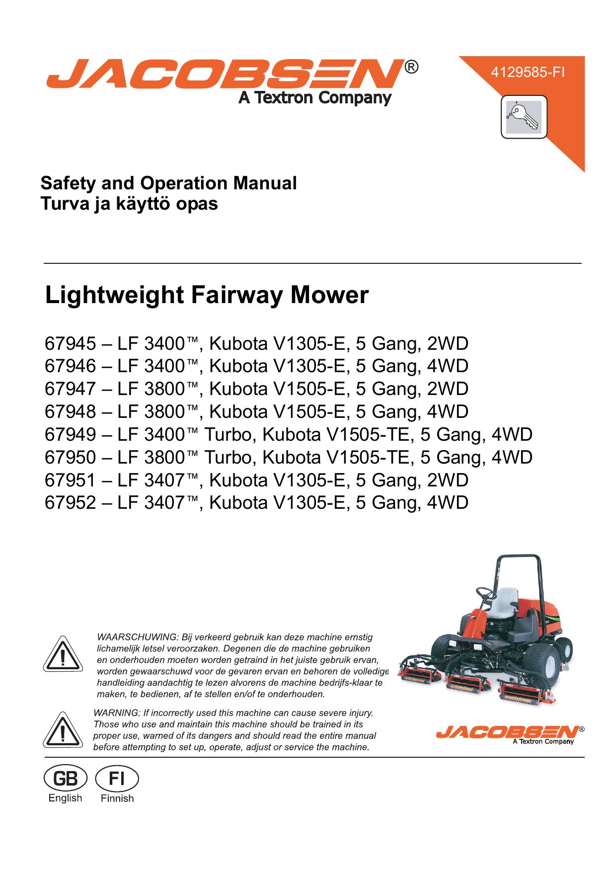 Lightweight Fairway Mower | manualzz.com on