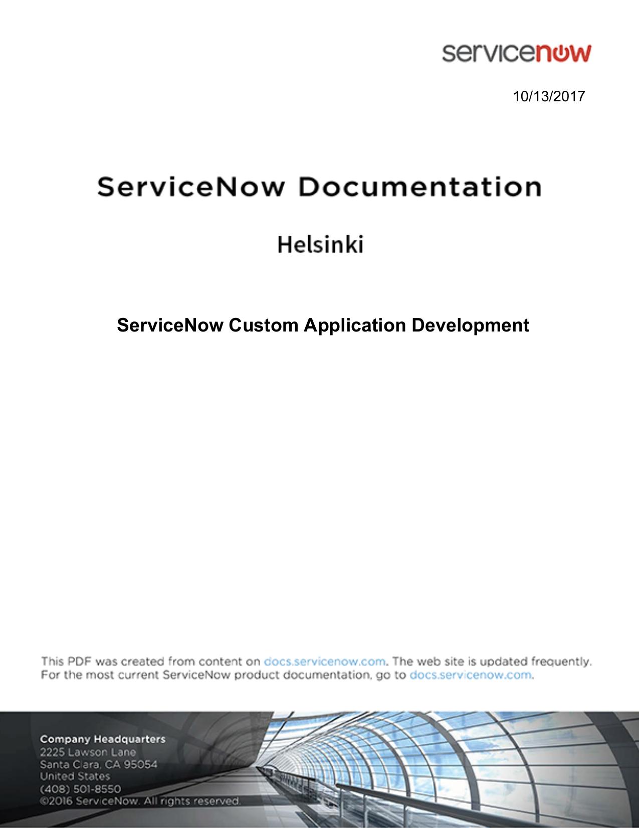 H ServiceNow Custom Application Development | manualzz com