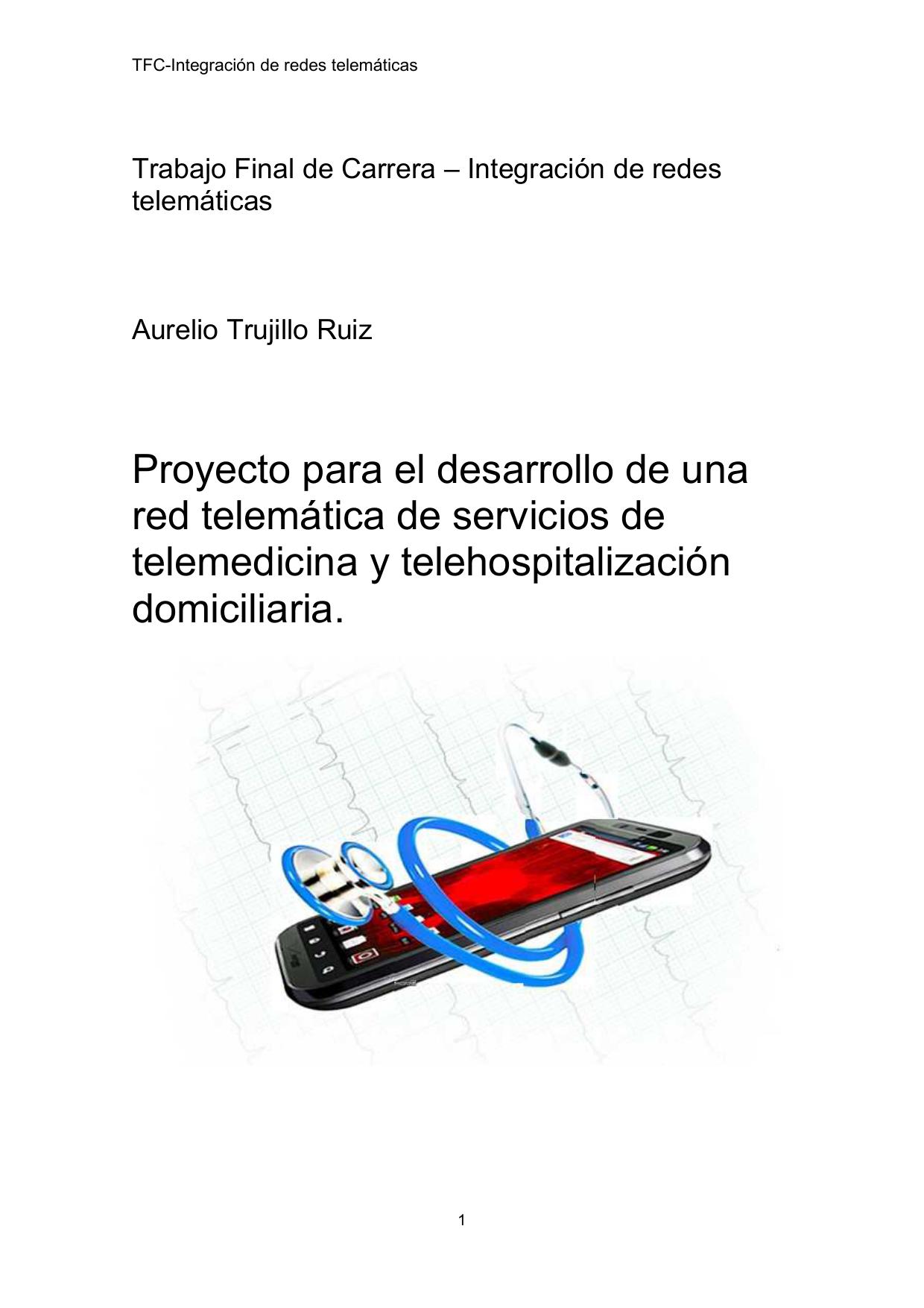 Proyecto para el desarrollo de una red telemática de servicios de