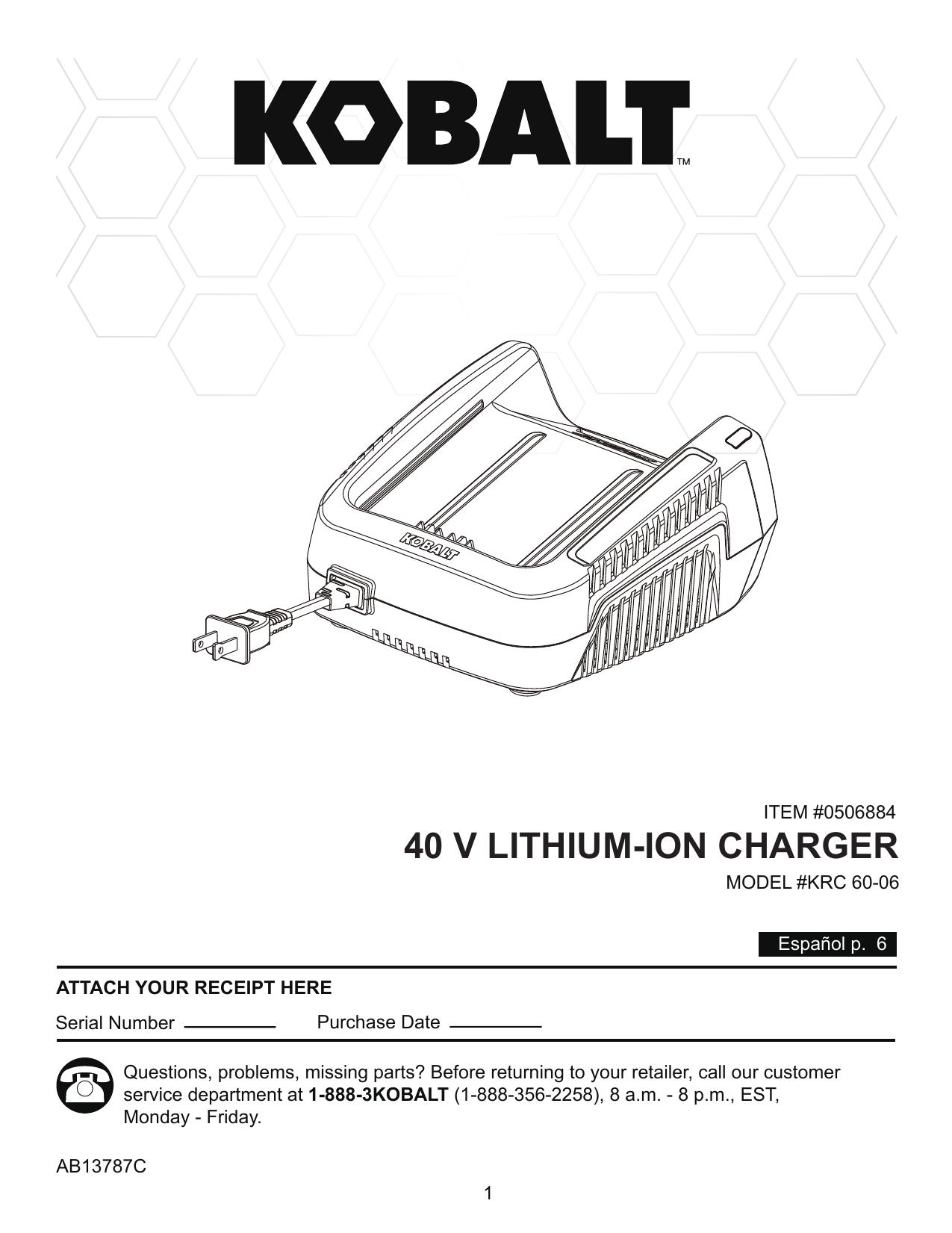 40 V LITHIUM-ION CHARGER | manualzz com