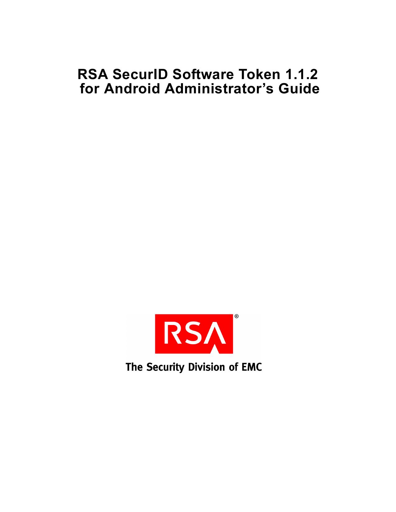 RSA SecurID Software Token for Nokia Administrator`s | manualzz com