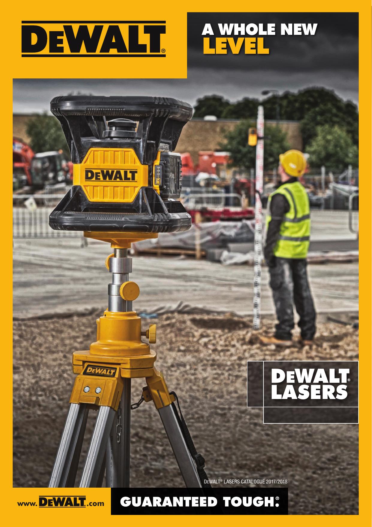 Set of 8 Pieces 18 V Dewalt DCE079D1G XR Self Level Rotary Laser Kit Yellow//Black