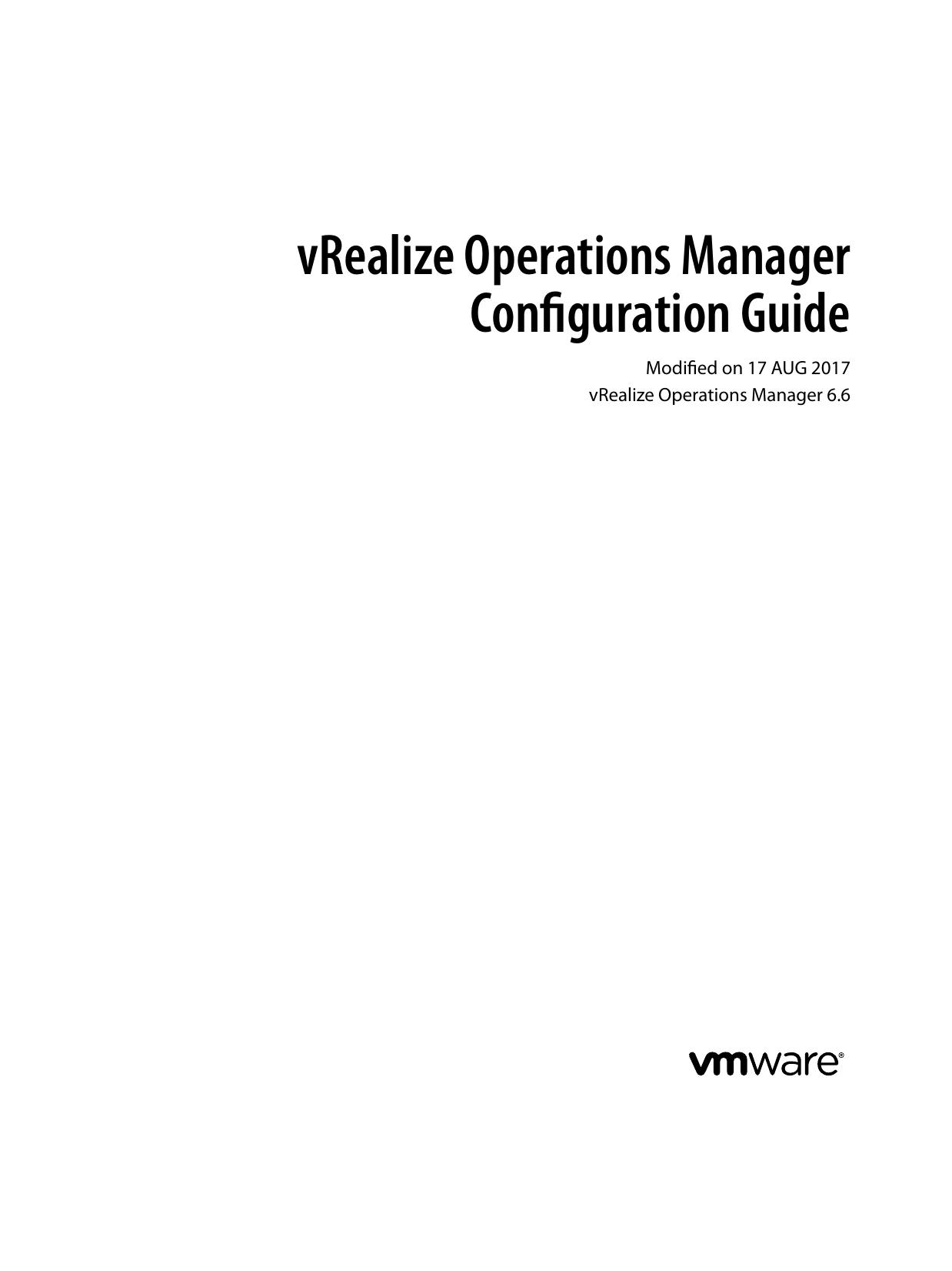 vRealize Operations Manager Configuration Guide | manualzz com