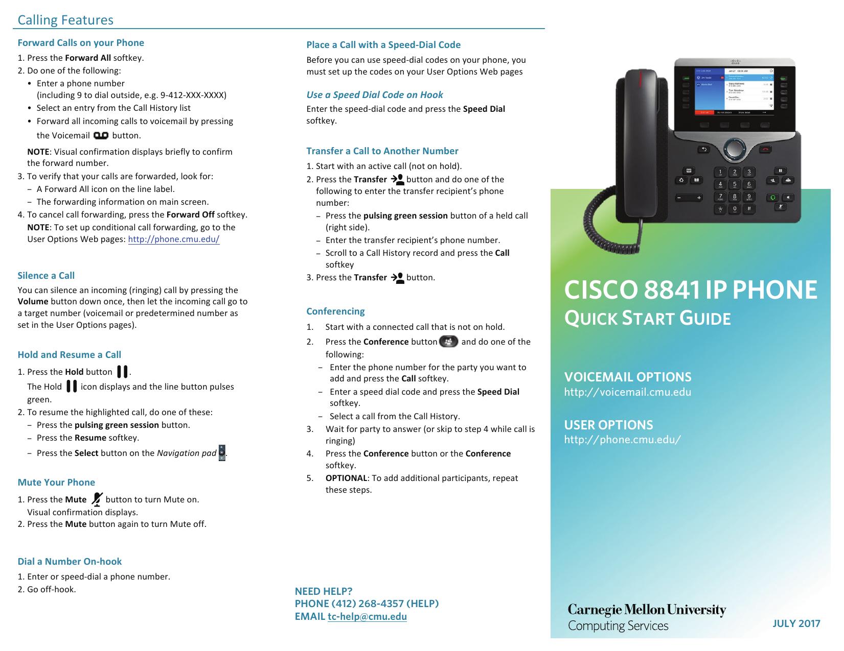 Cisco 8841 Phone | manualzz com