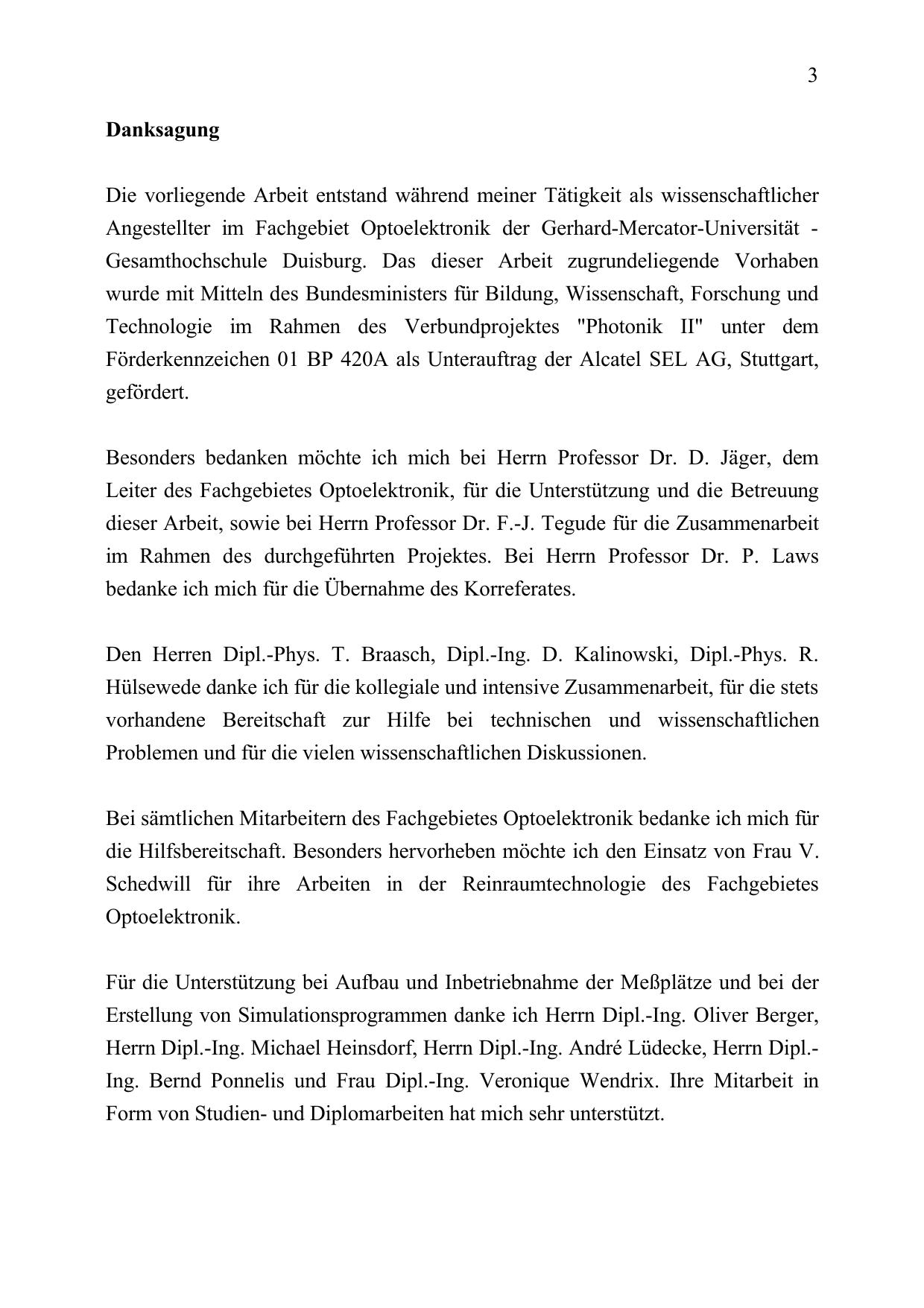 Danksagung diplomarbeit Diplomarbeiten/Masterarbeiten