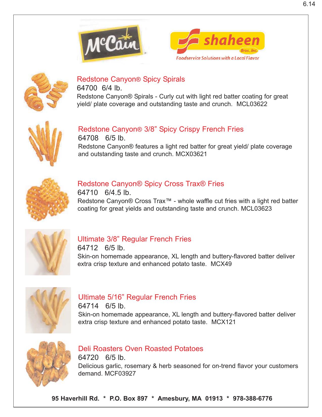 French Fries - McCain qxp | manualzz com