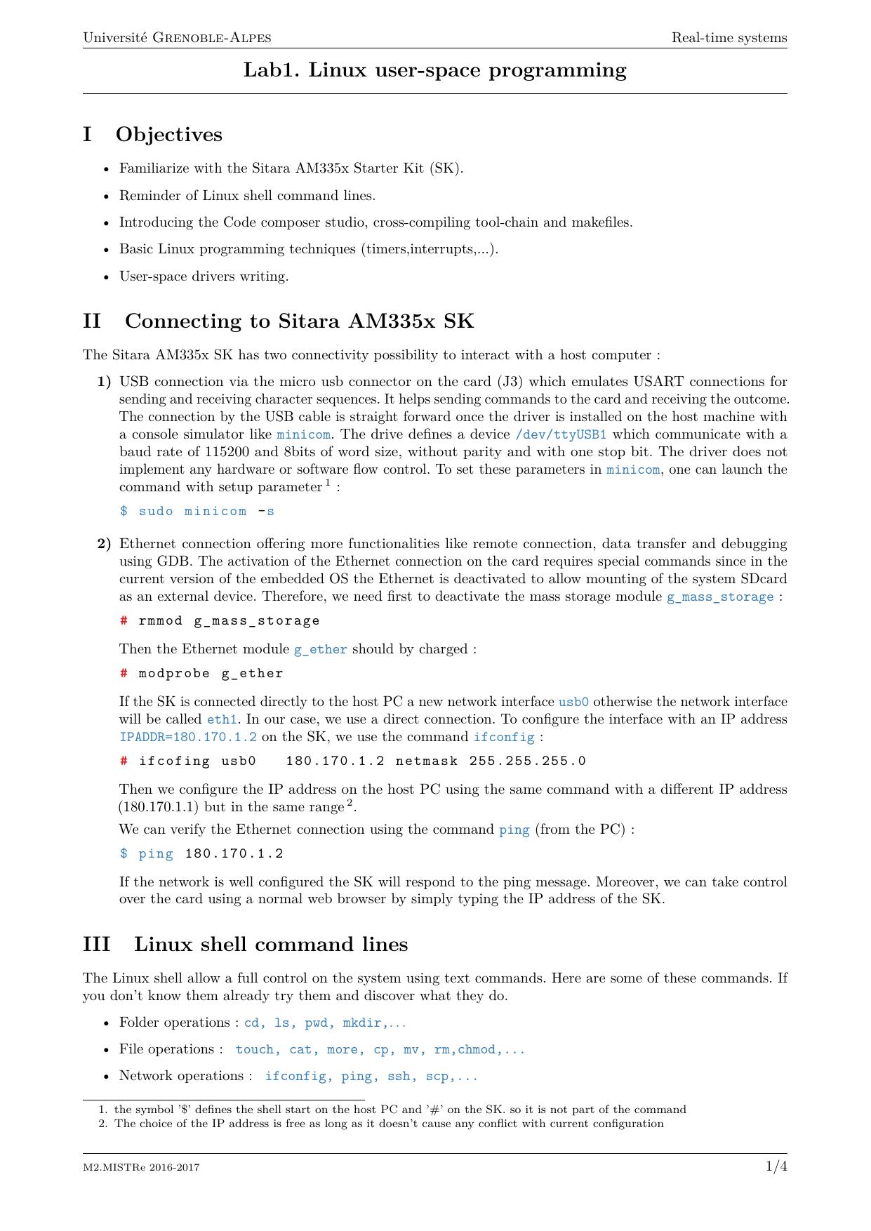 Lab1  Linux user-space programming | manualzz com