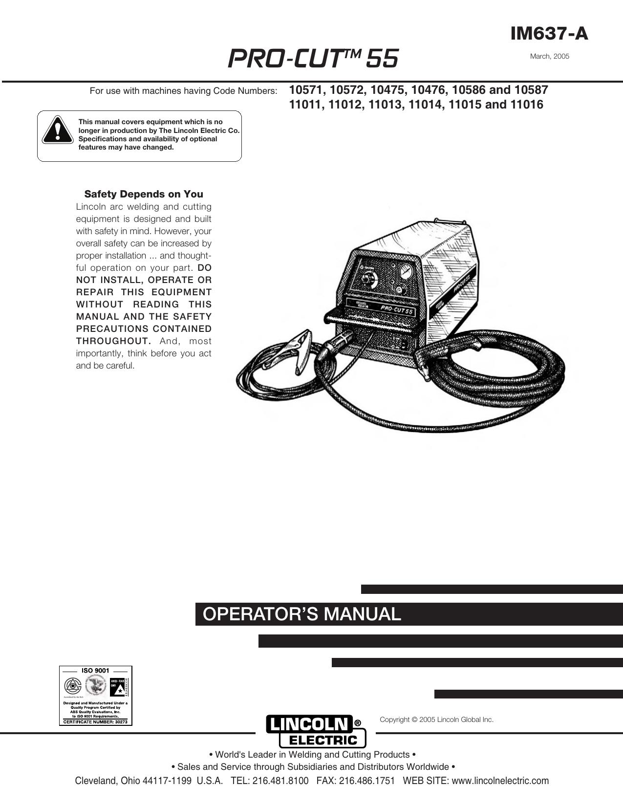 lincoln 305g wiring diagram pro cuttm 55 lincoln electric manualzz  pro cuttm 55 lincoln electric manualzz