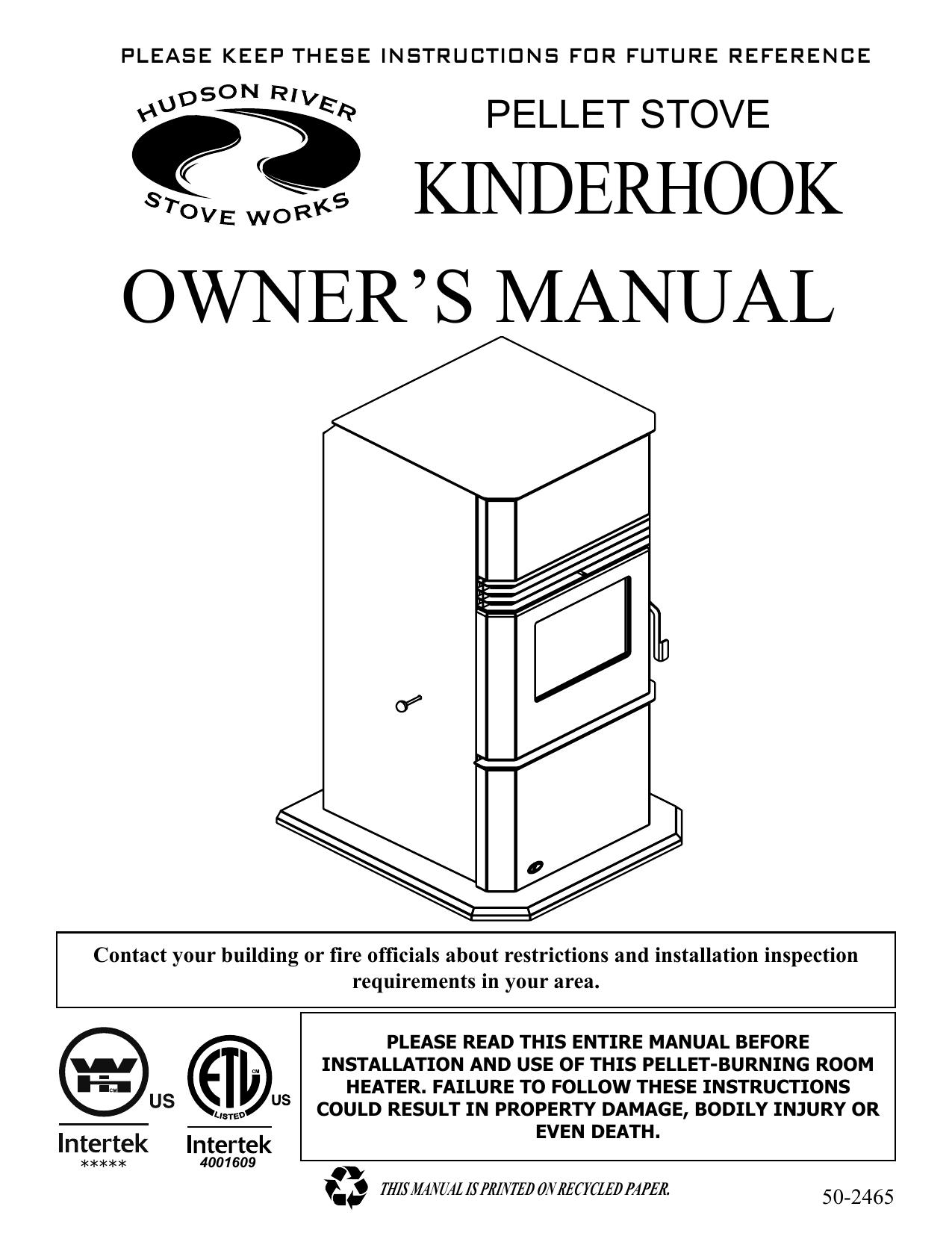 kinderhook owner s manual Hudson River Stove Works