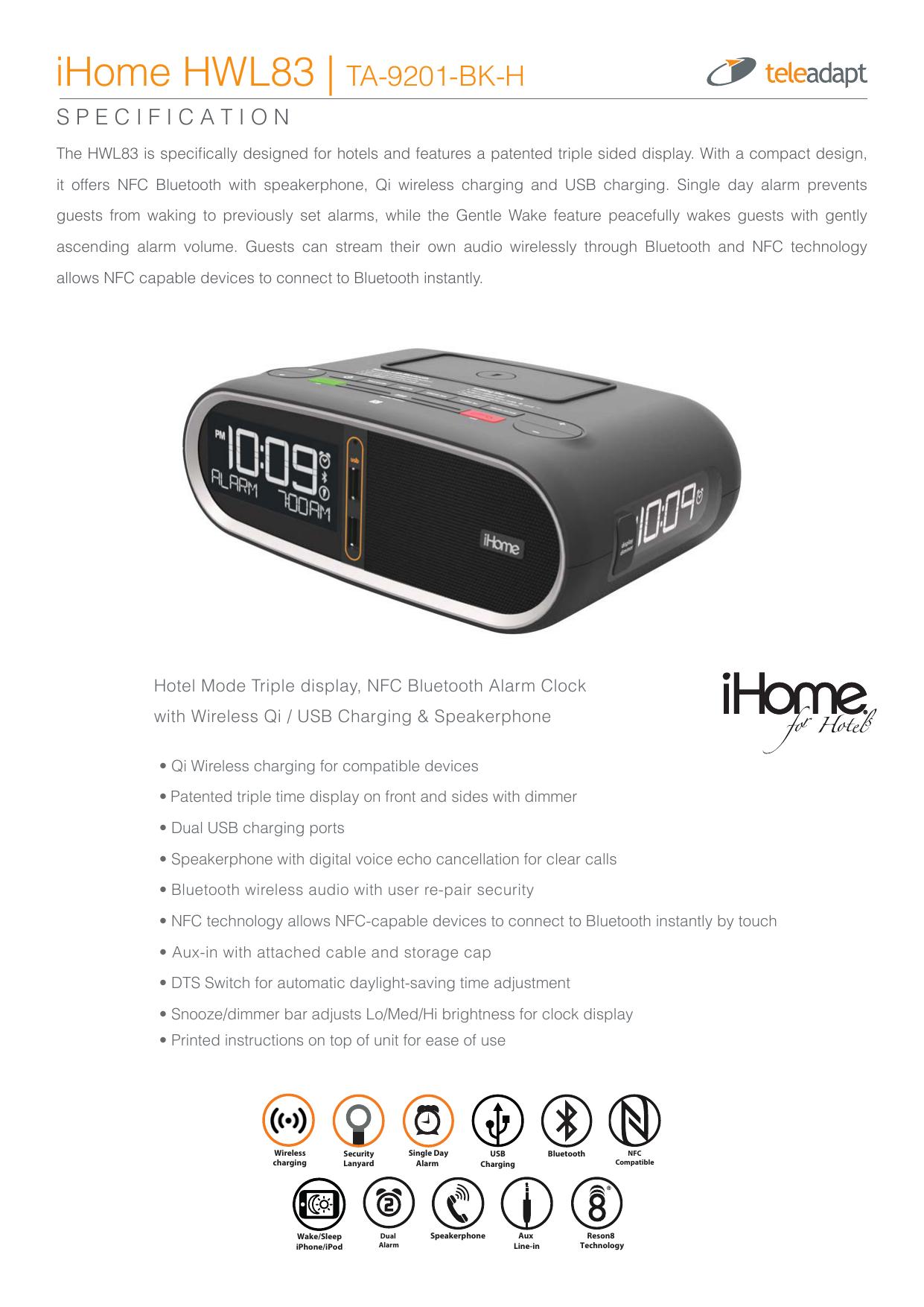 iHome HWL83 | TA-9201-BK-H | manualzz com