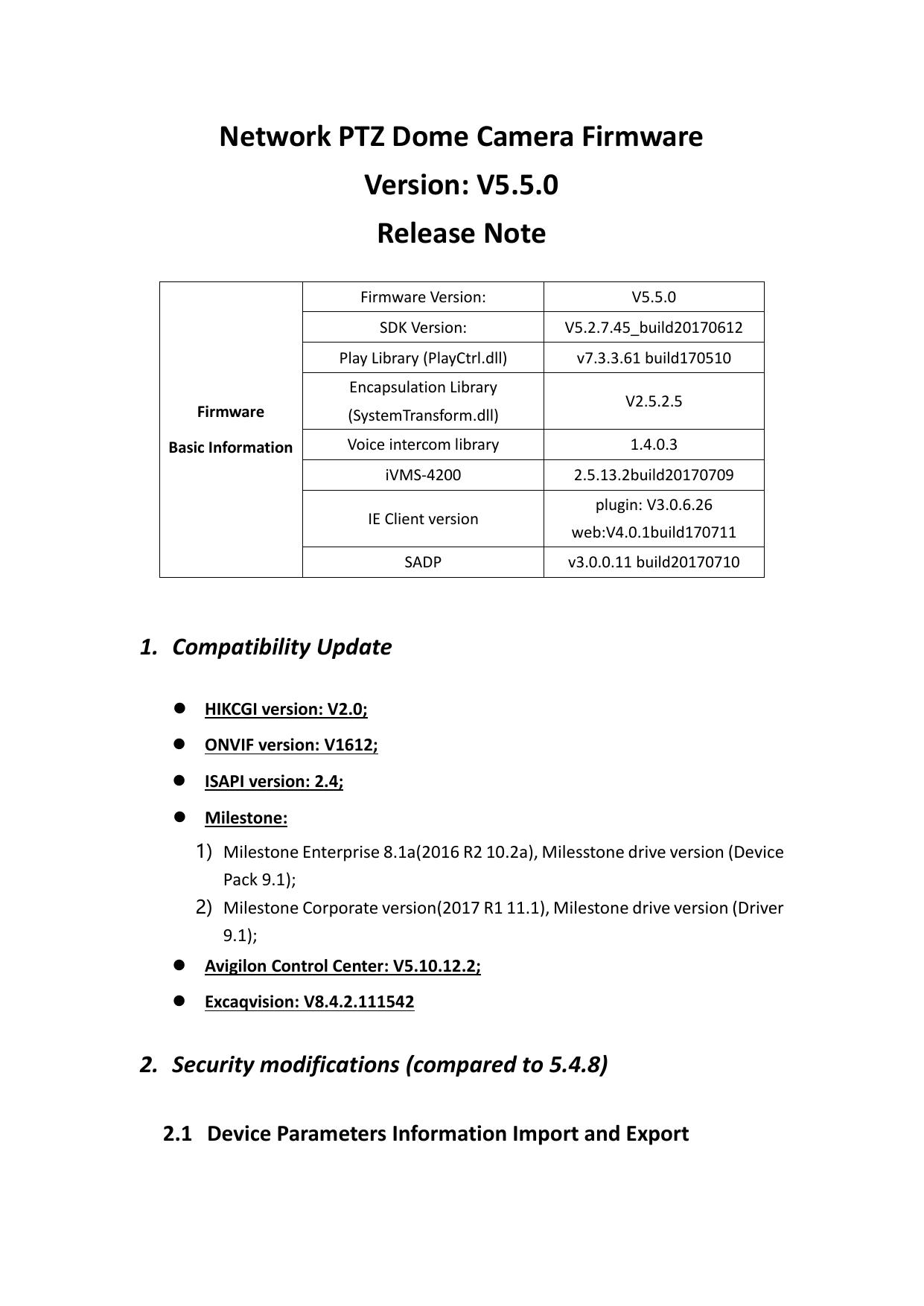 Network PTZ Dome Camera Firmware Version: V5 5 0 | manualzz com