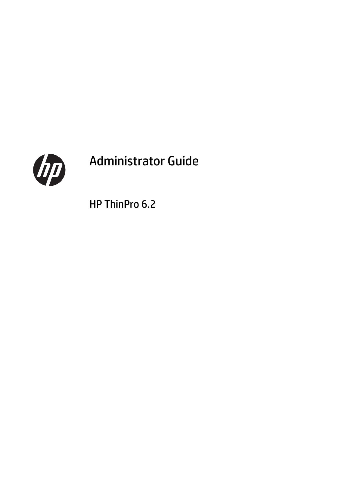 Administrator Guide HP ThinPro 6 2 | manualzz com