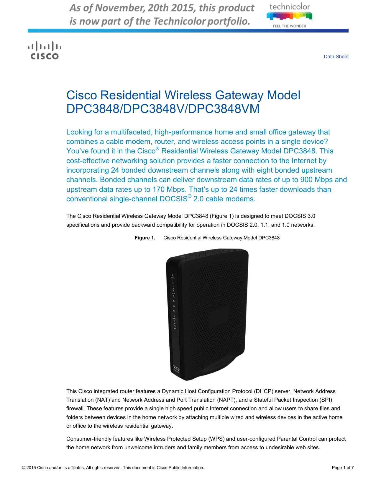 Cisco Dpc3941t Range