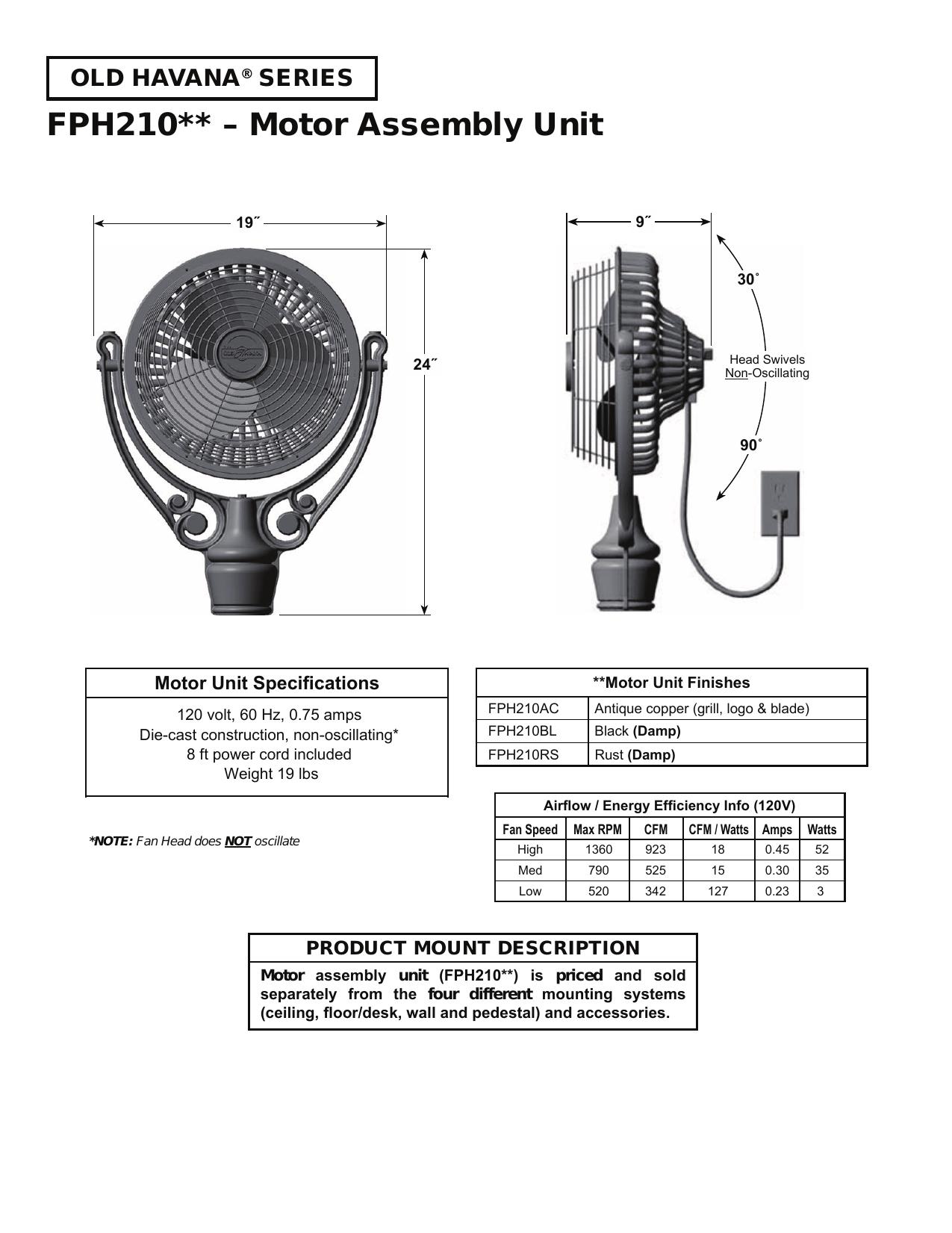 Fph210 Motor Embly Unit Manualzz