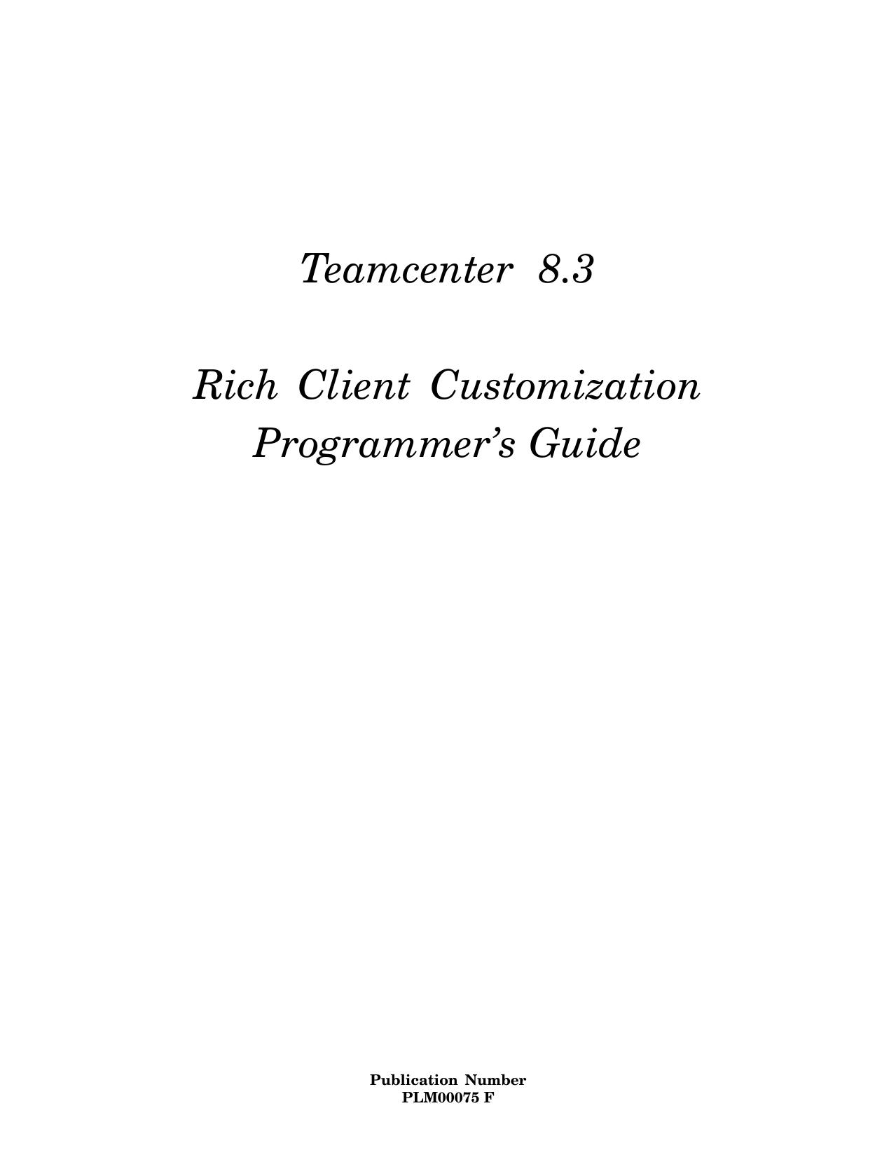 Rich Client Customization Programmer`s Guide | manualzz com