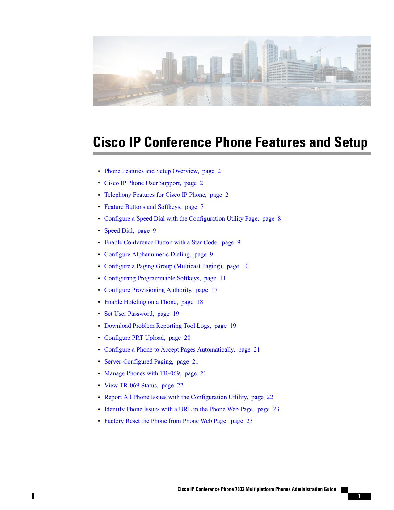 Cisco IP Conference Phone Features and Setup | manualzz com