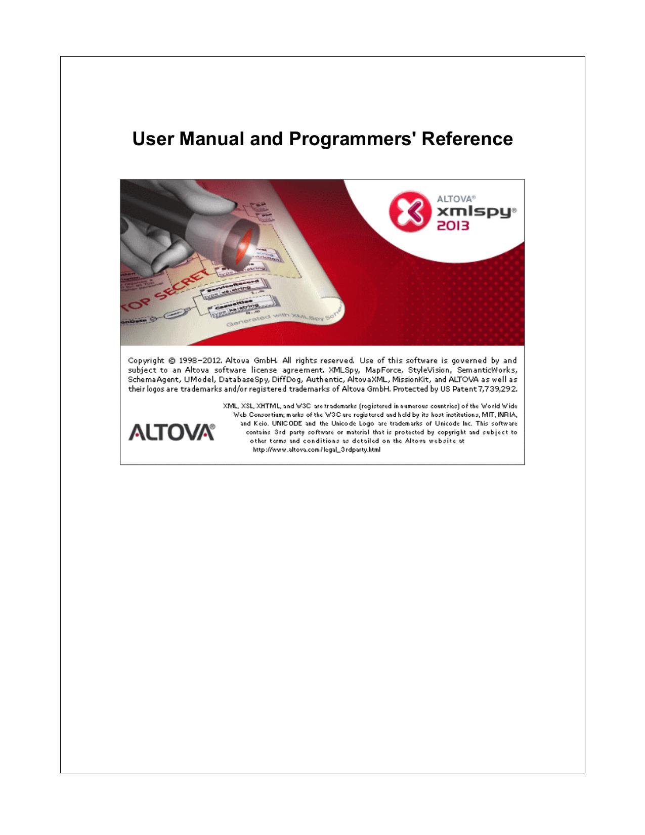Altova XMLSpy 2013 | manualzz com