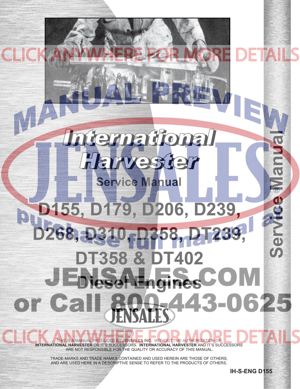 Dresser IH INTERNATIONAL TD8E Crawler Tractor Parts Book Manual Form PCTD8E2 LO