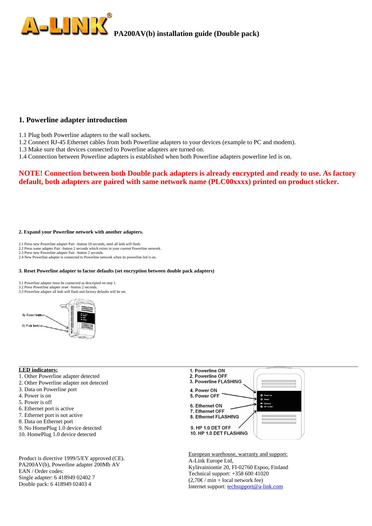 A-link PA200AV Windows 7