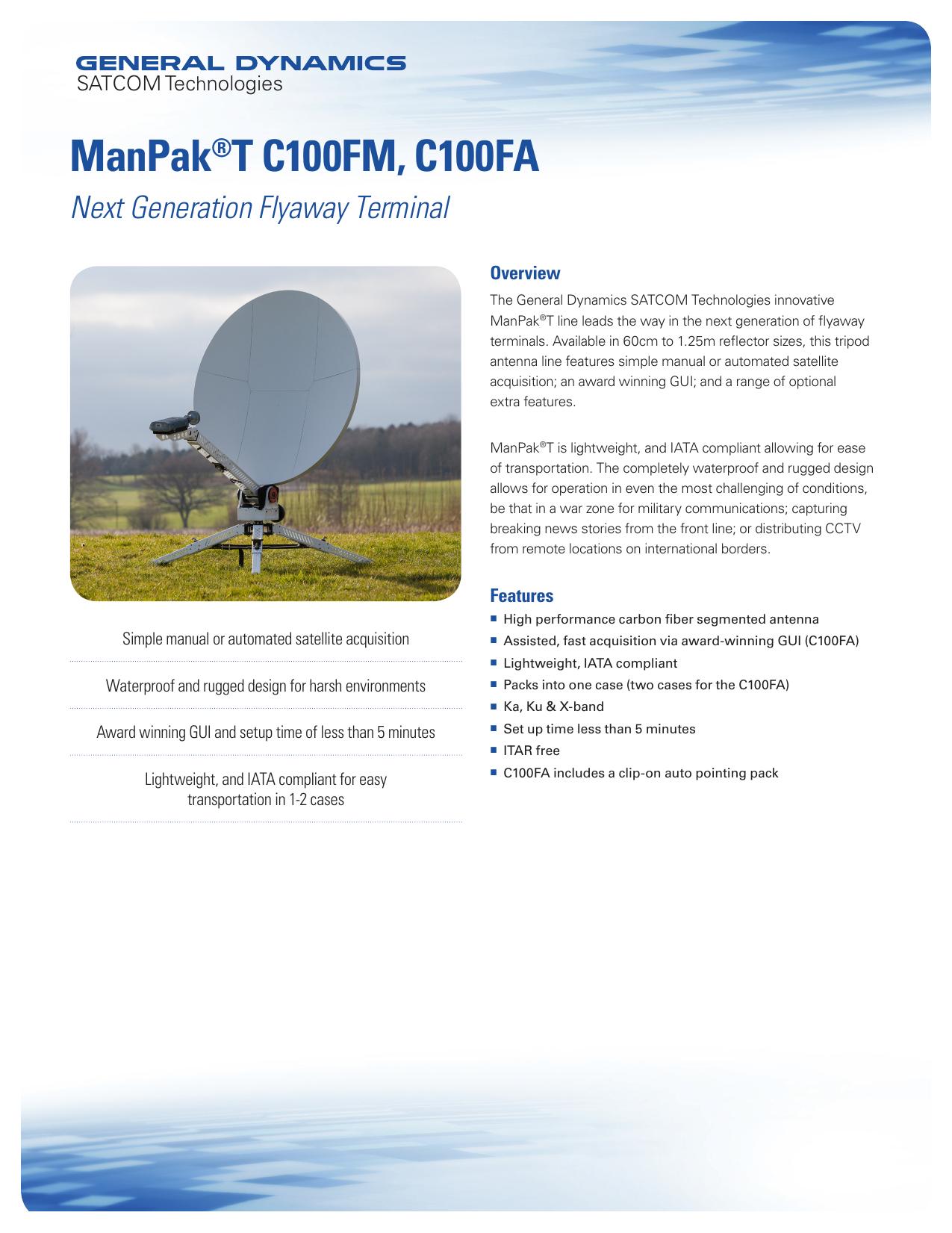 ManPak®T C100FM, C100FA - General Dynamics Mission Systems