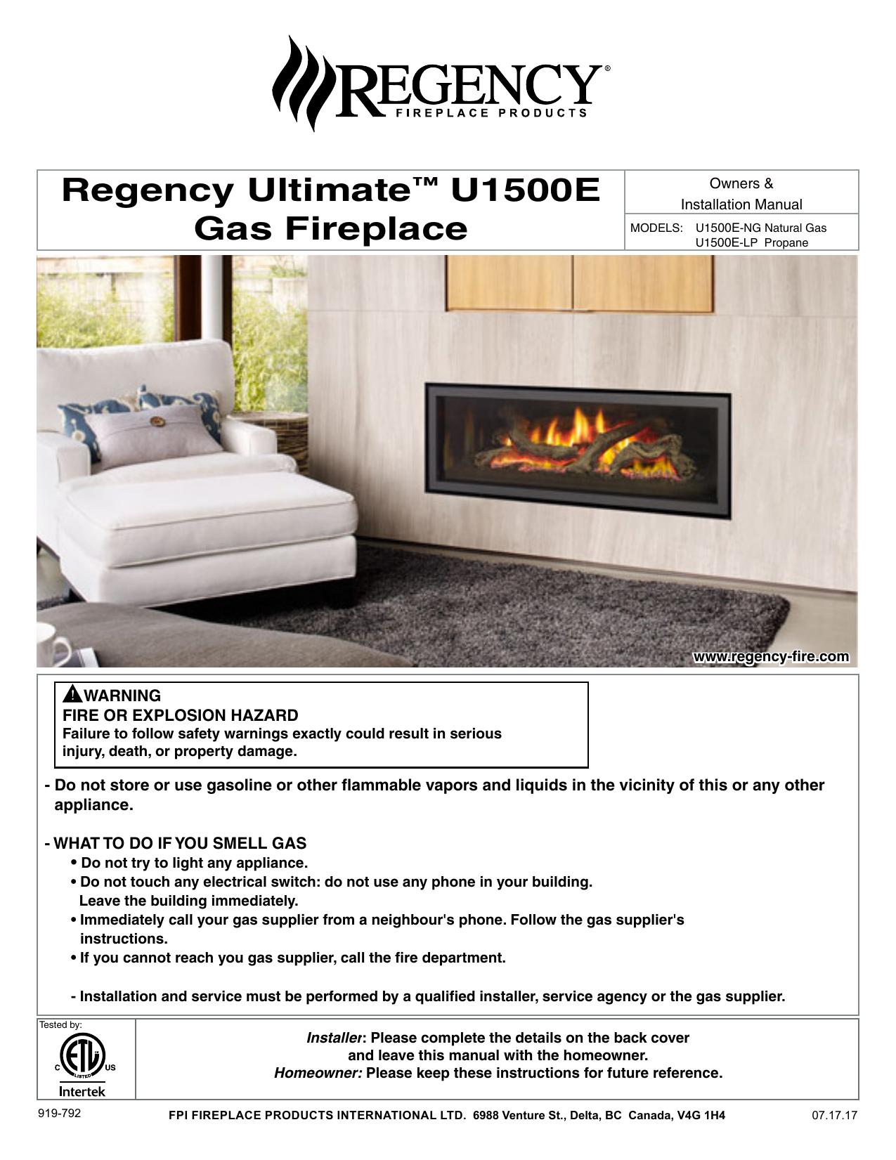 Regency Ultimate U1500e Gas Fireplace