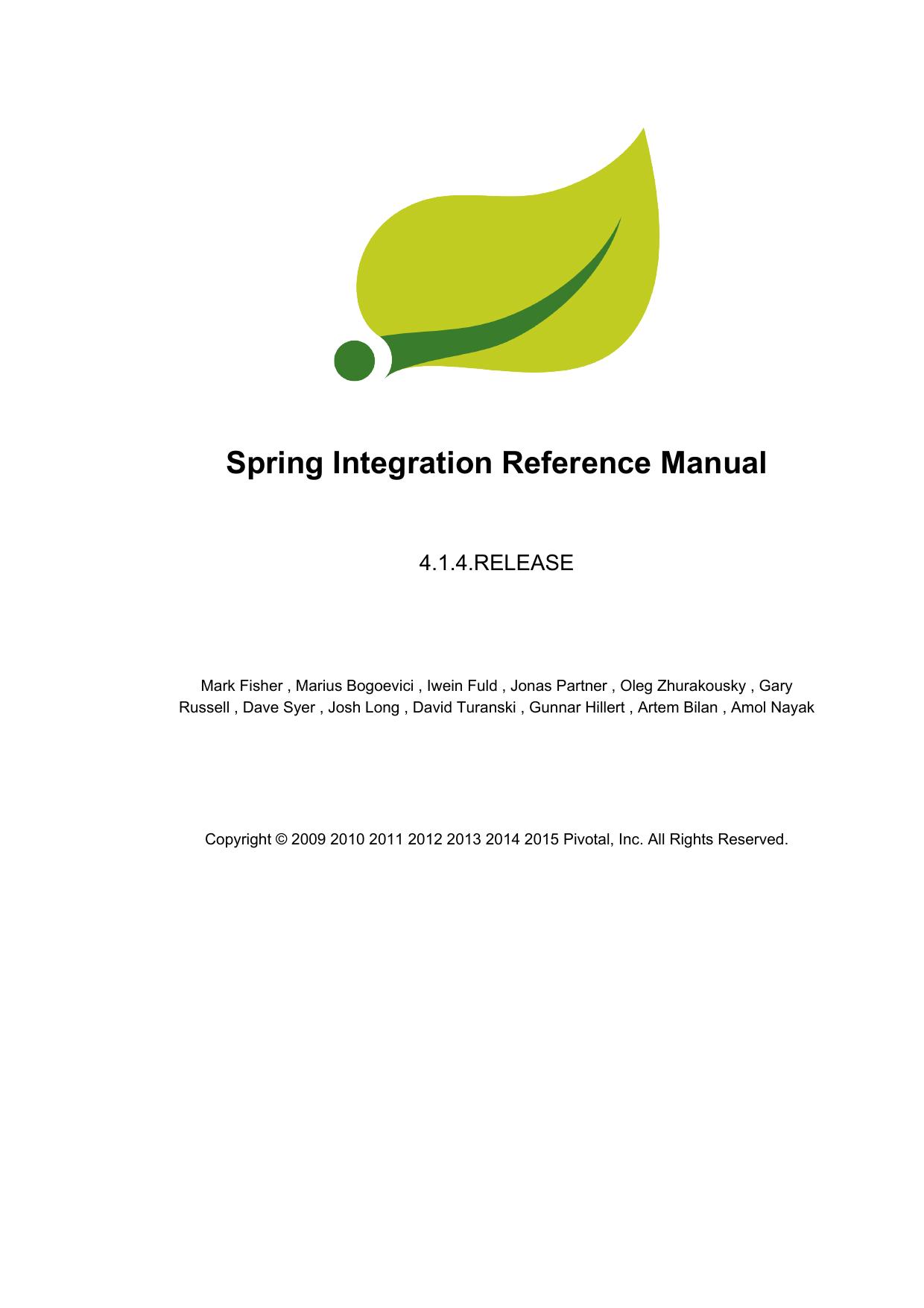 Spring Integration Reference Manual | manualzz com