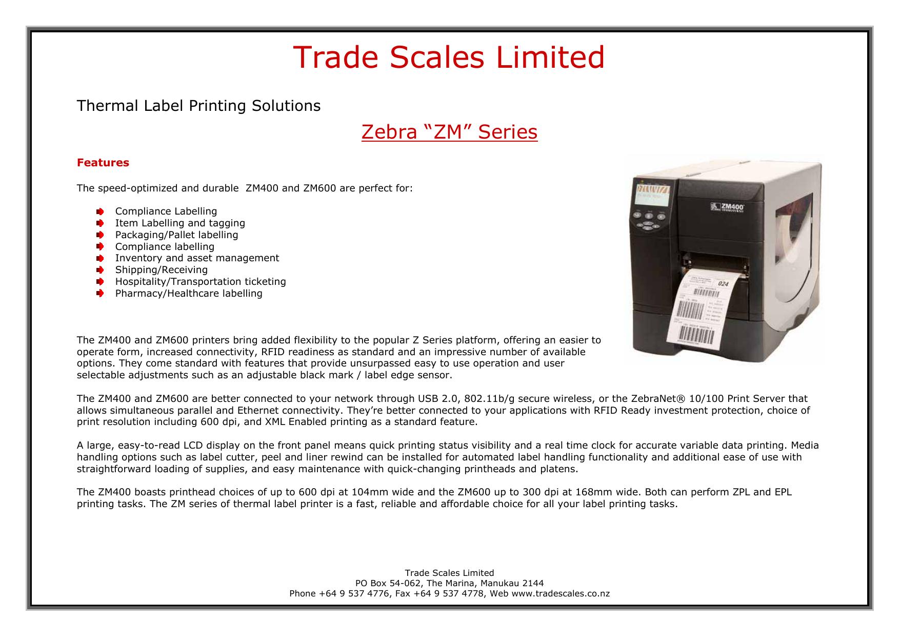 Trade Scales Limited | manualzz com