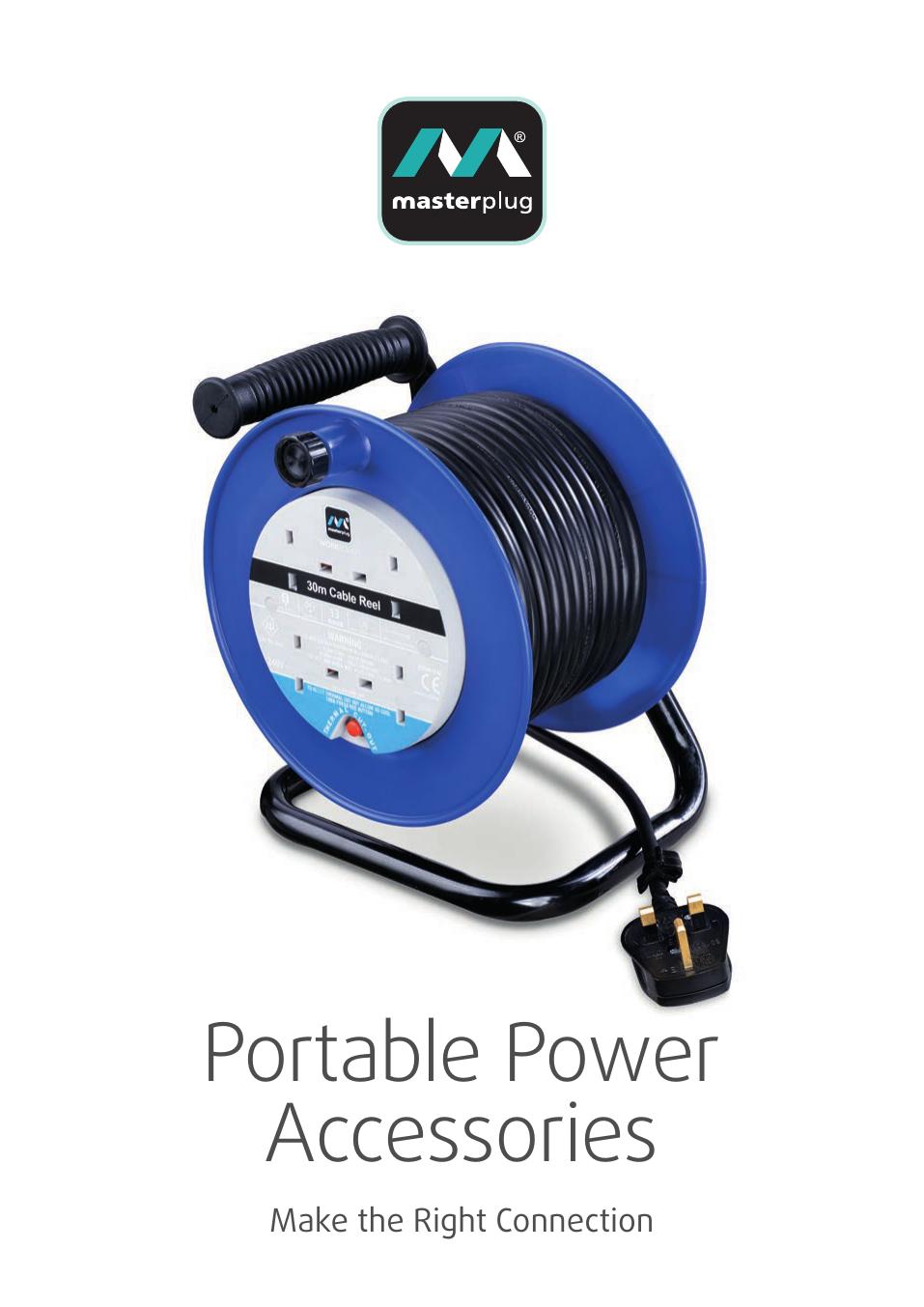 Masterplug Indoor Power 6 Gang 13 Amp Prise Avec 3 Mètre Extension Lead BSG3N