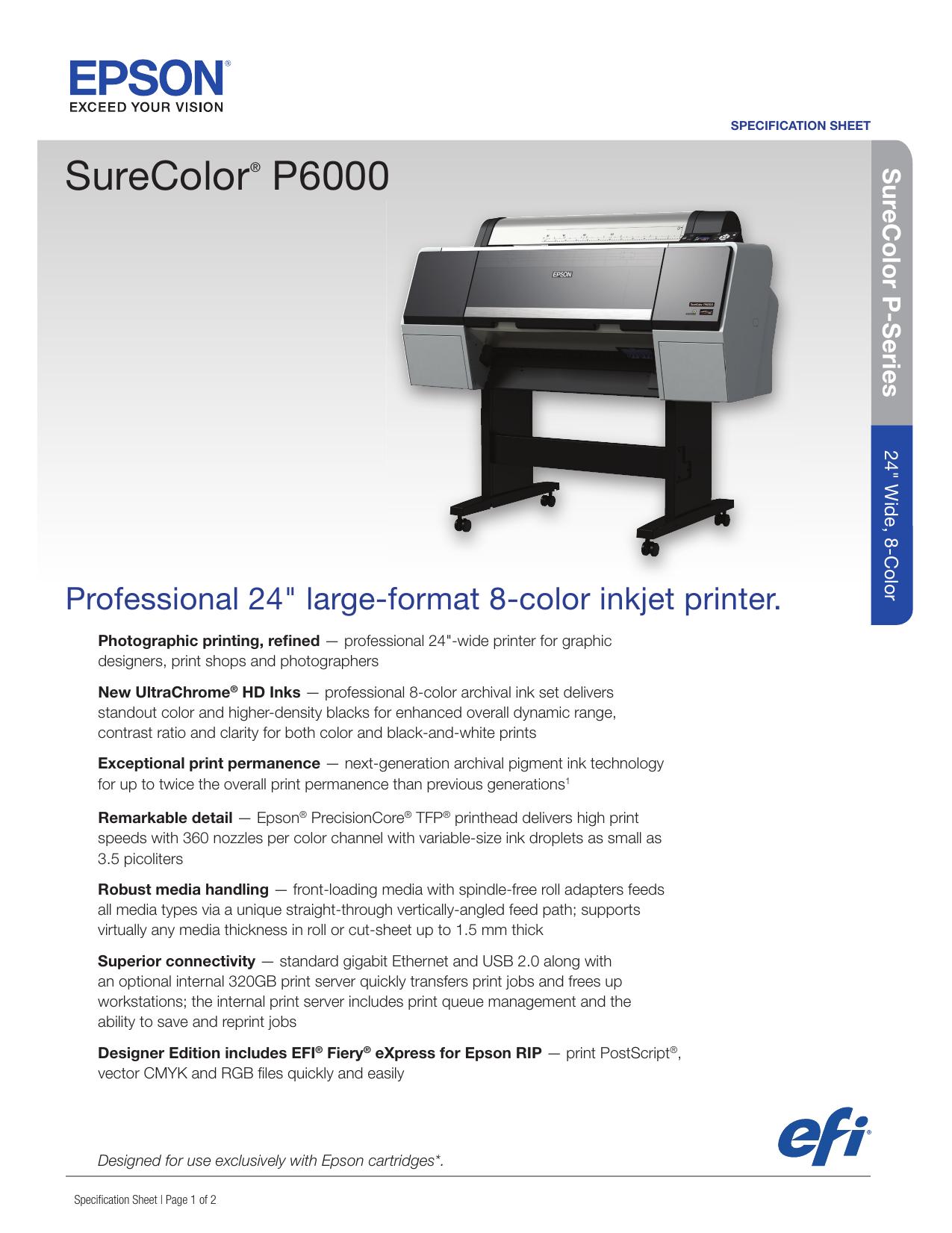 SureColor® P6000 | manualzz com