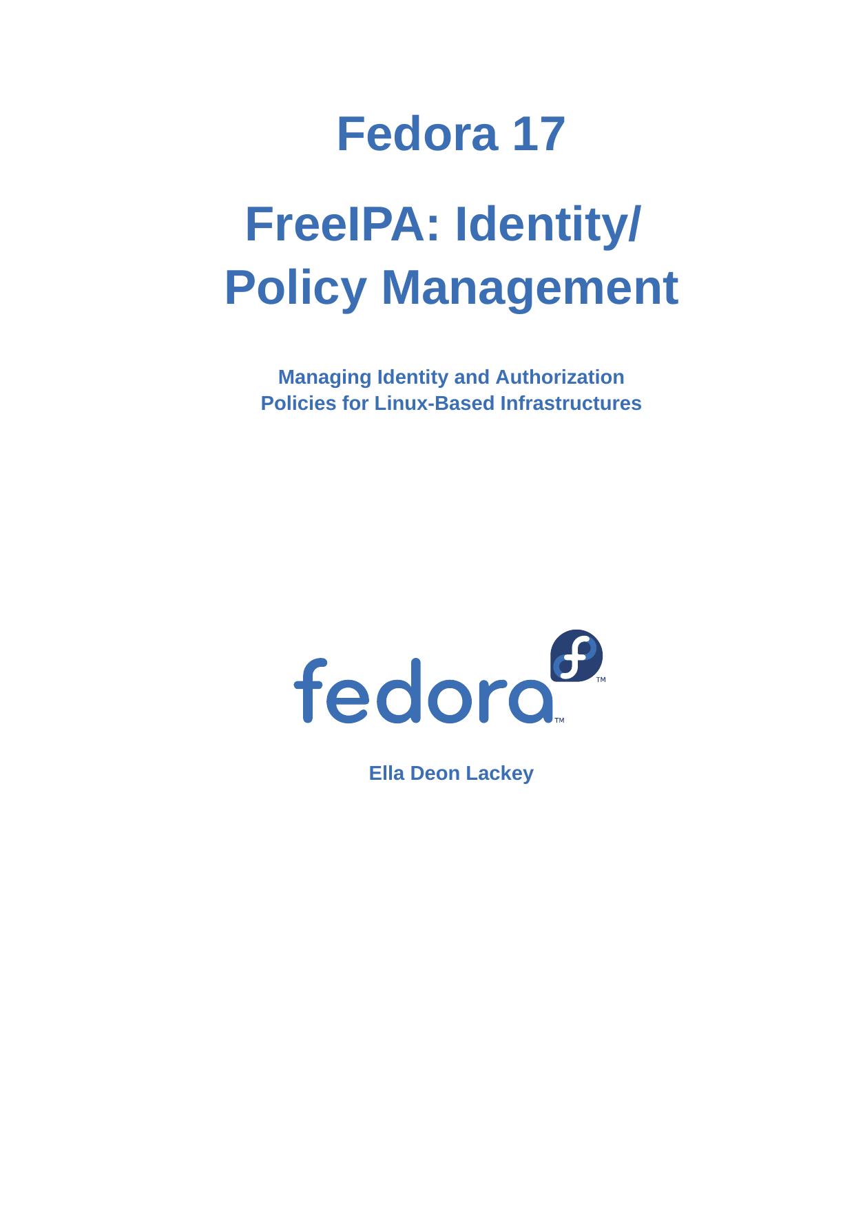 FreeIPA: Identity/Policy Management | manualzz com