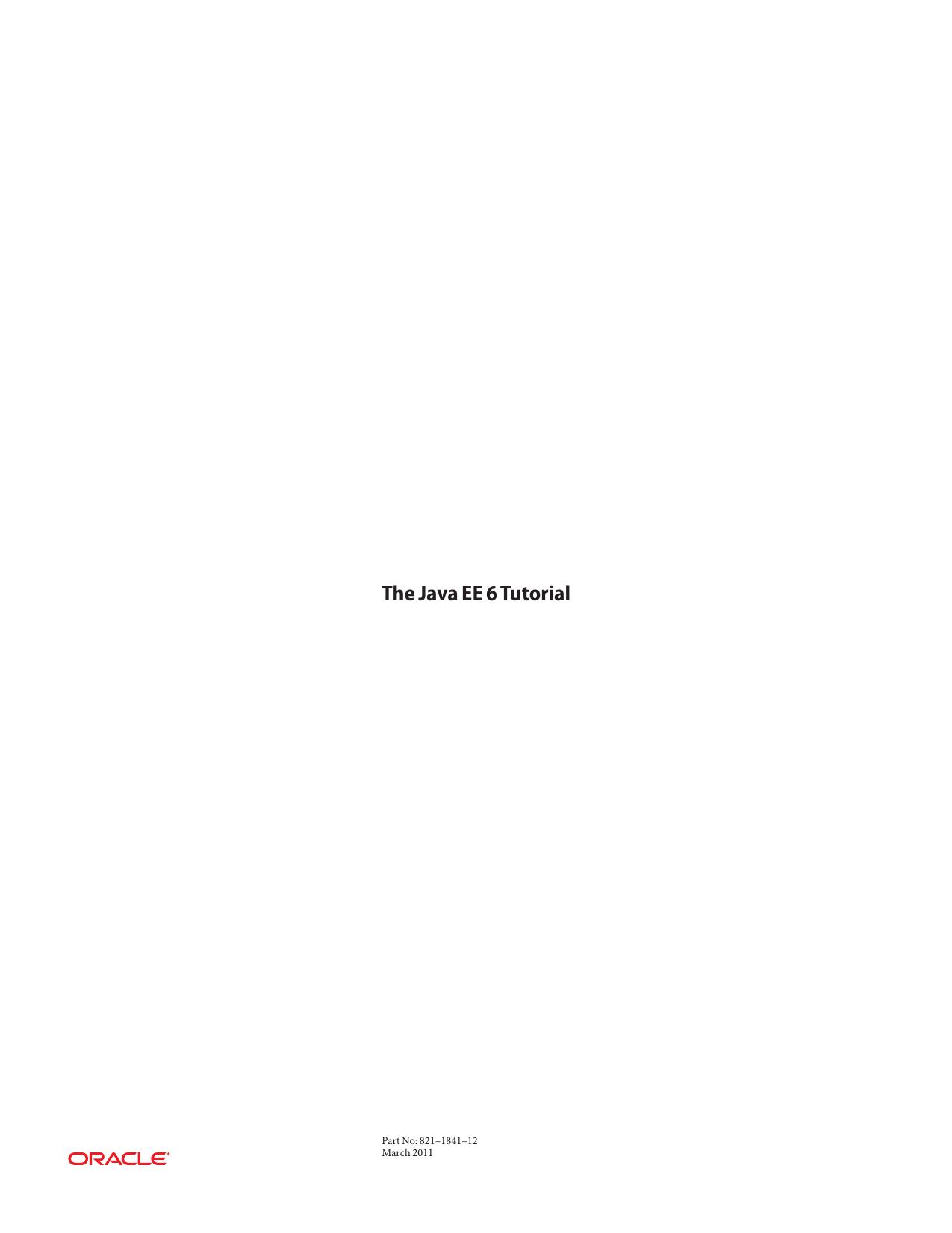 The Java EE 6 Tutorial | manualzz com