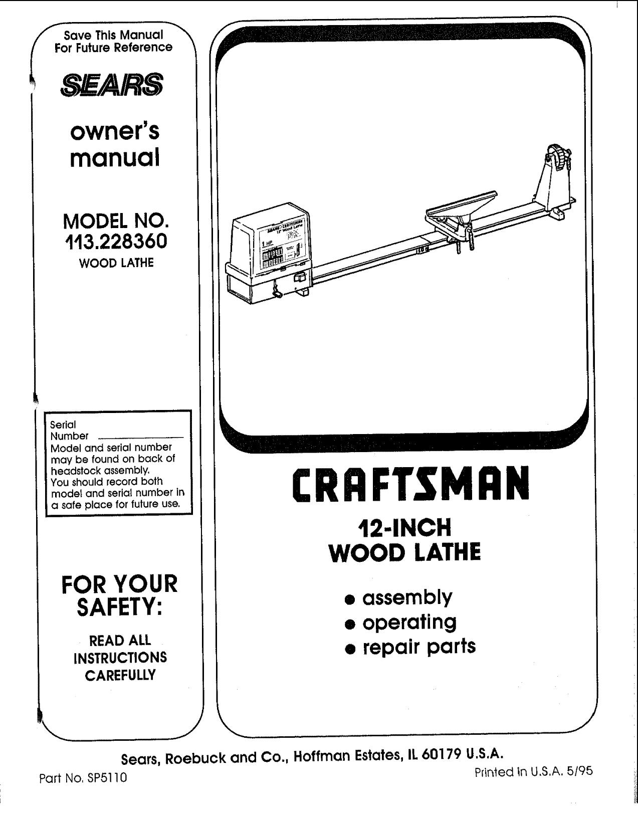 craftsman - Vintage Machinery | manualzz com