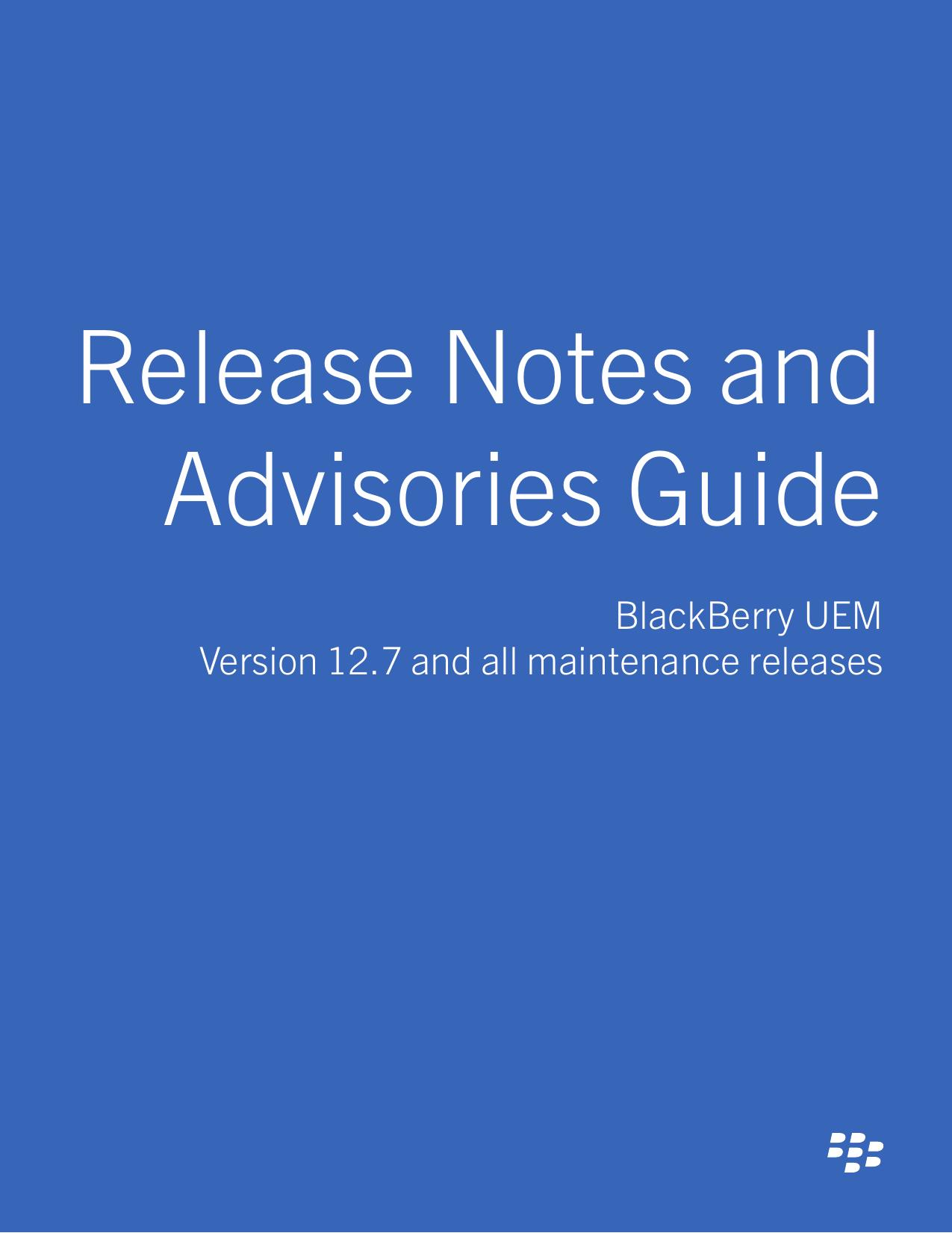 BlackBerry UEM-12 7 and all maintenance | manualzz com