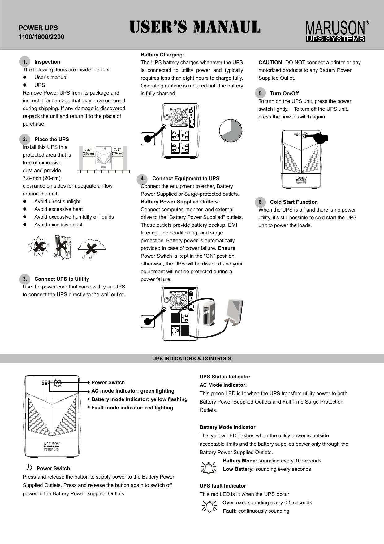 power ups 1100/1600/2200 | manualzz com