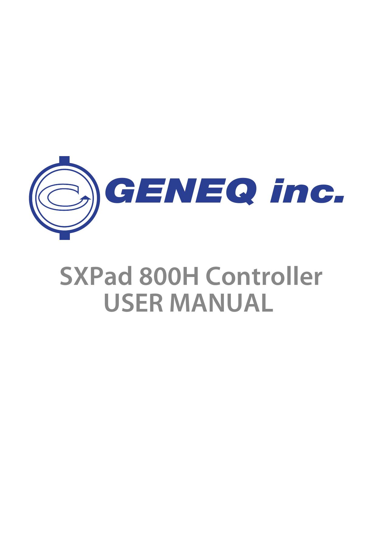SXPad 800H Manual | manualzz com