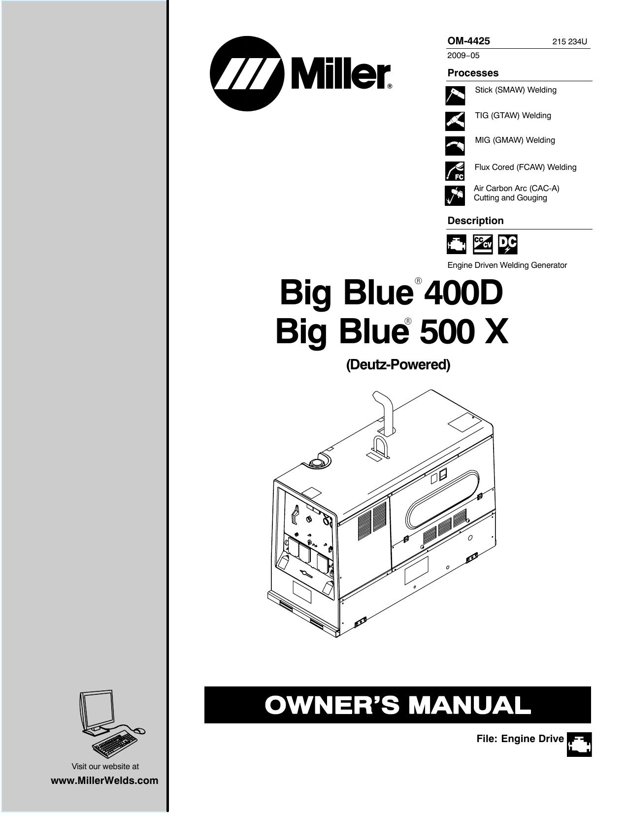 Big Blue 400D Big Blue 500 X   Manualzzmanualzz