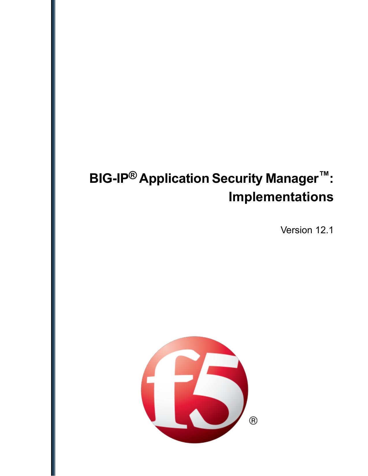 BIG-IP® Application Security Manager | manualzz com