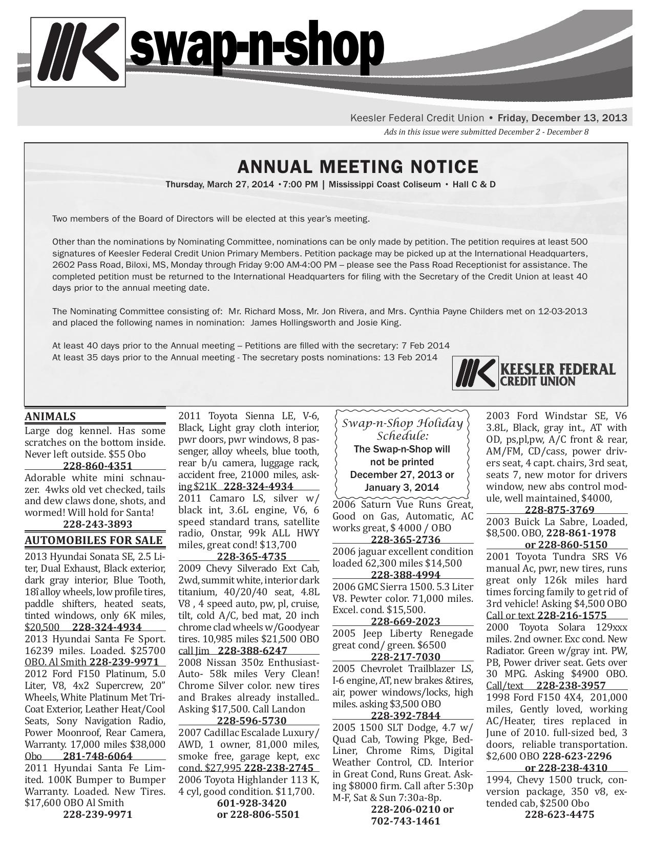 swap-n-shop - Keesler Federal Credit Union   manualzz com