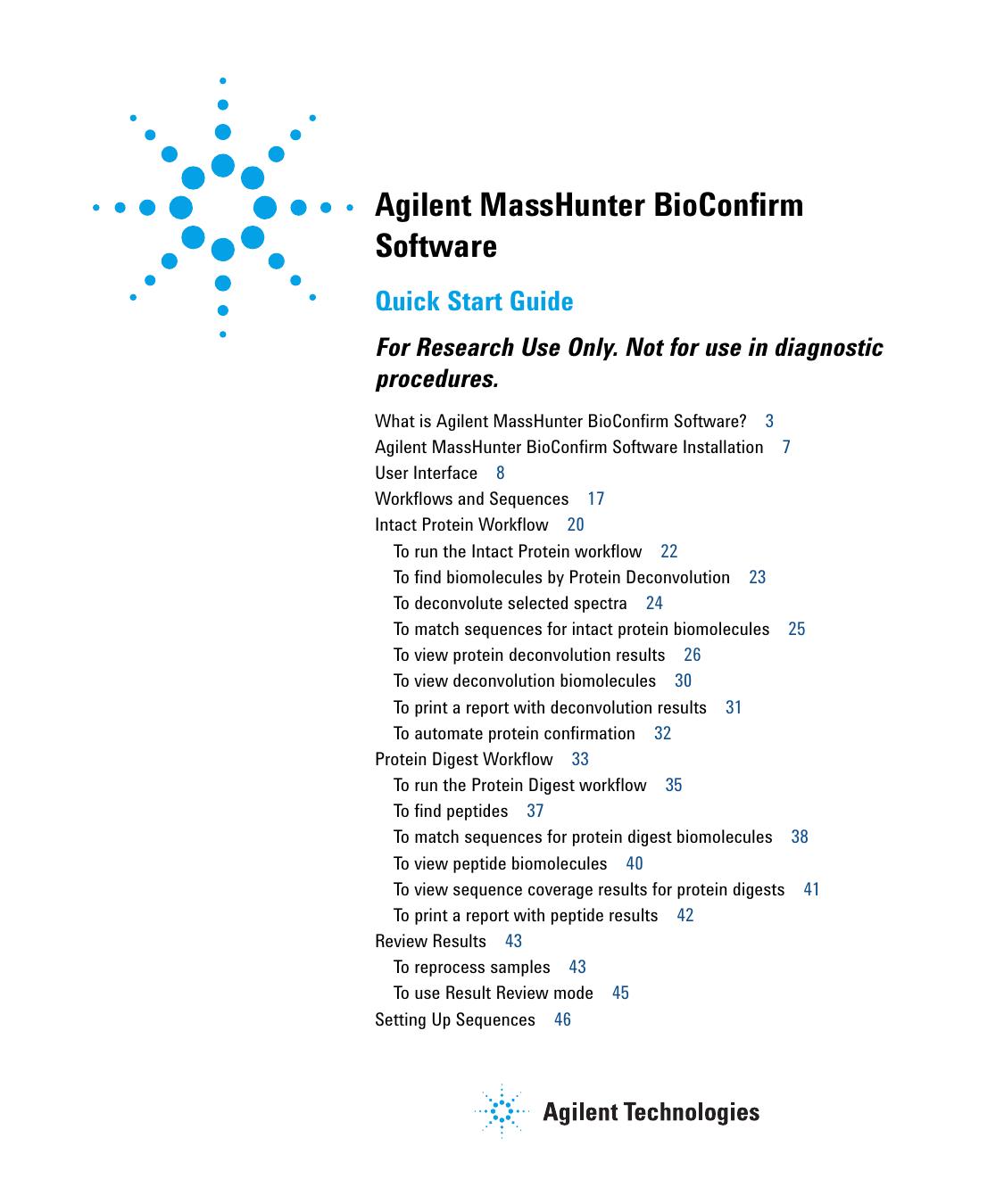 Agilent MassHunter BioConfirm Software | manualzz com