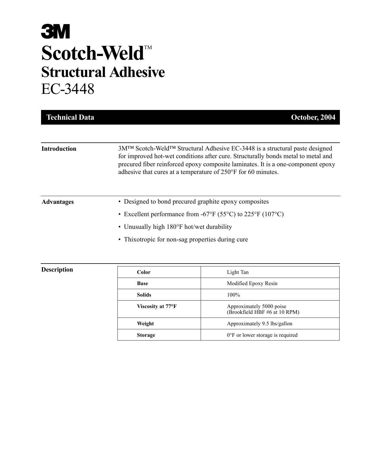 3M™ Scotch-Weld™ Structural Adhesive EC-3448 | manualzz com