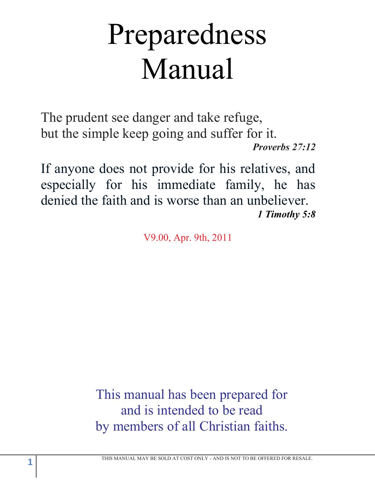 Preparedness Manual | manualzz.com on
