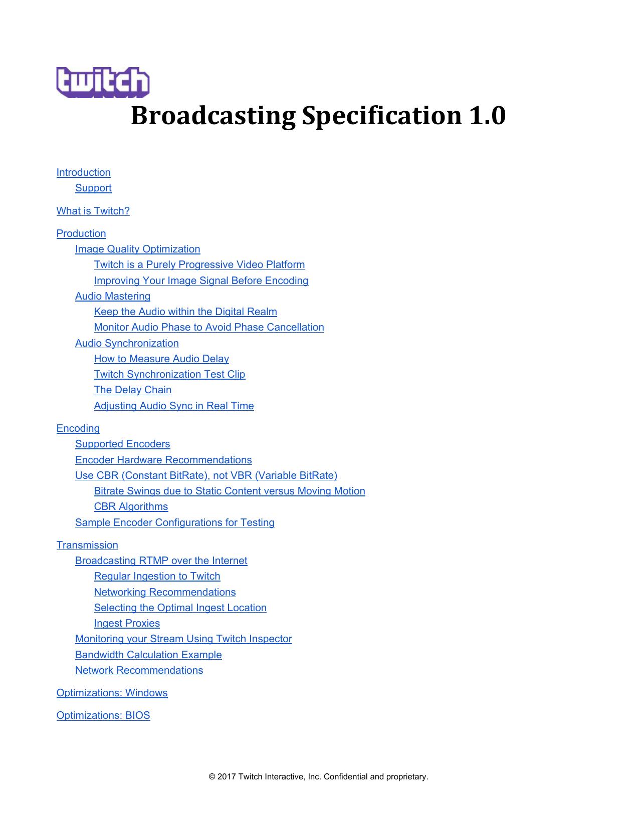 Broadcasting Specification 1 0 | manualzz com