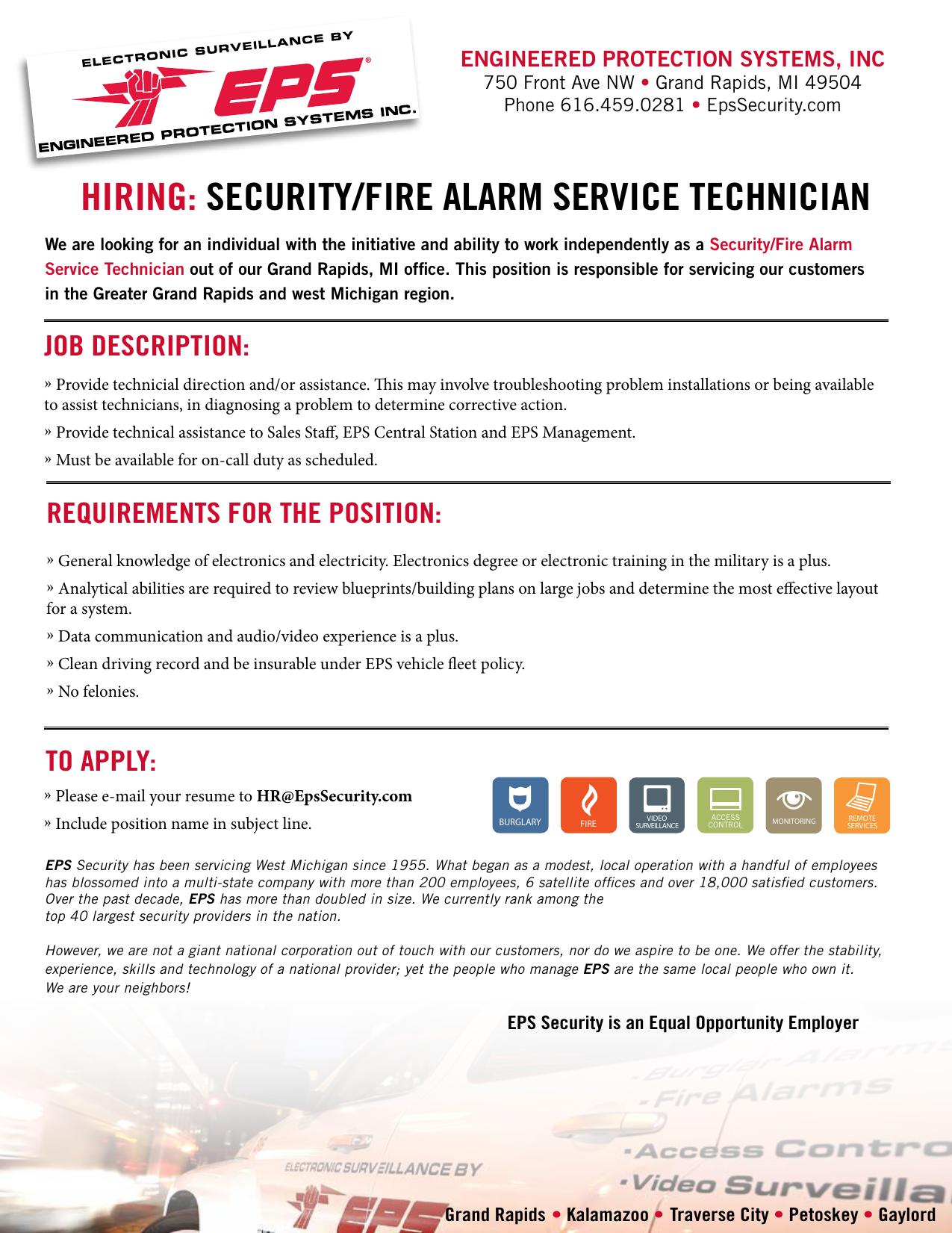 hiring: security/fire alarm service technician | manualzz com