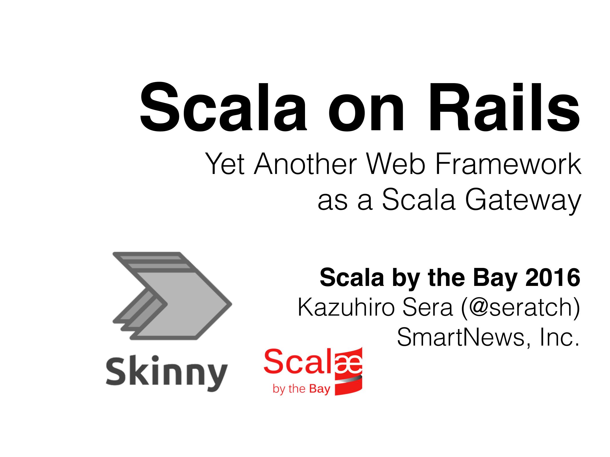 Yet Another Web Framework as a Scala Gateway   manualzz.com