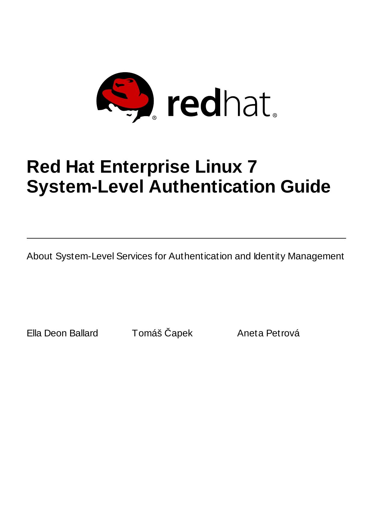 Red Hat Enterprise Linux 7 System-Level Authentication - X