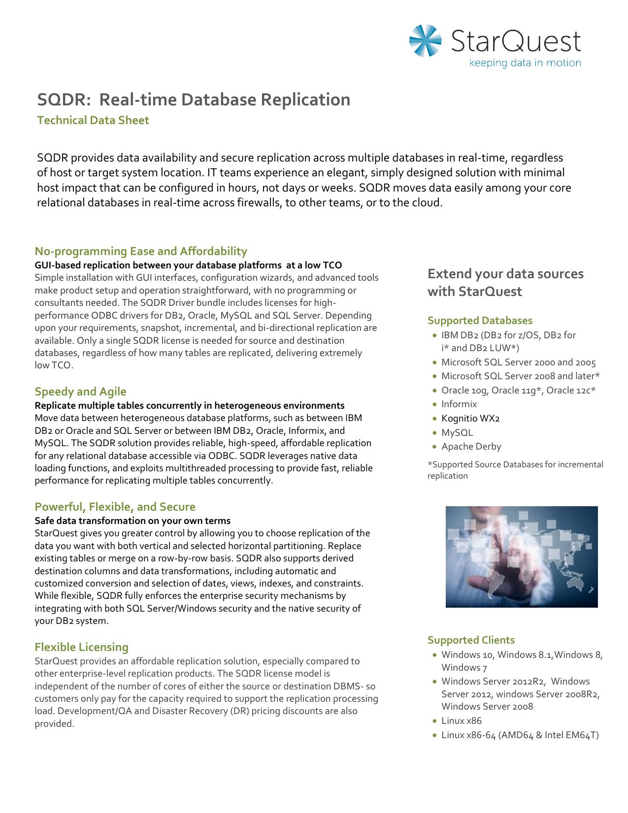 SQDR: Real-time Database Replication | manualzz com